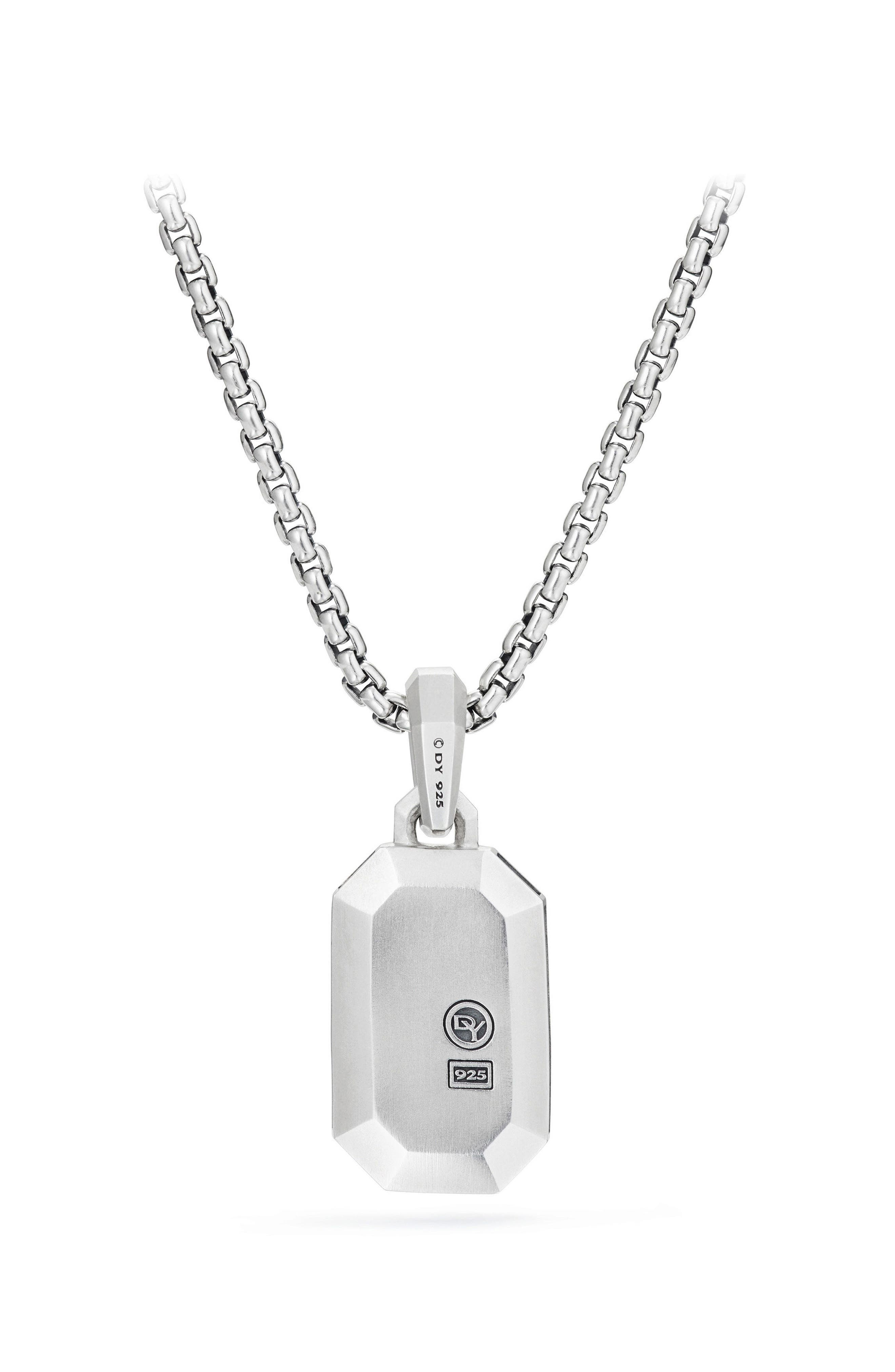 Streamline Pavé Amulet with Black Diamonds,                             Alternate thumbnail 3, color,                             001