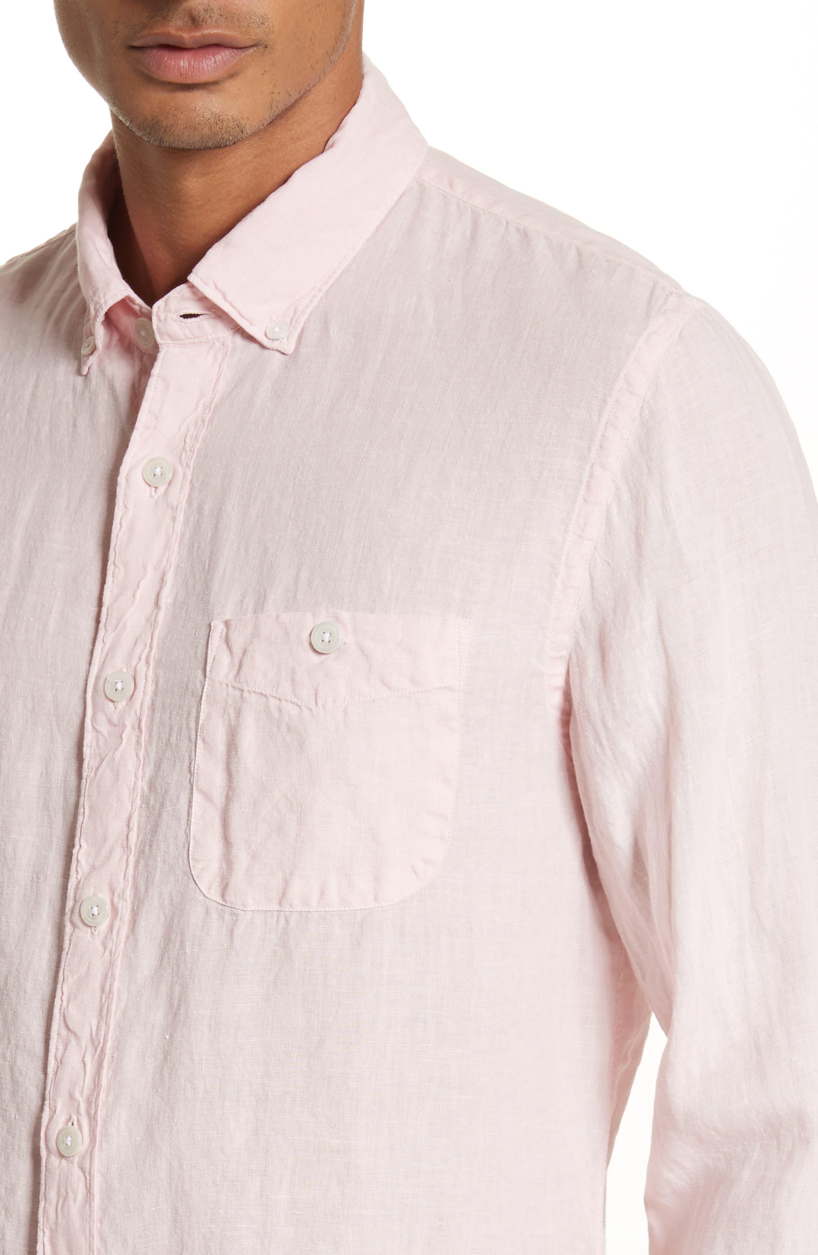 Linen Woven Shirt,                             Alternate thumbnail 4, color,                             650