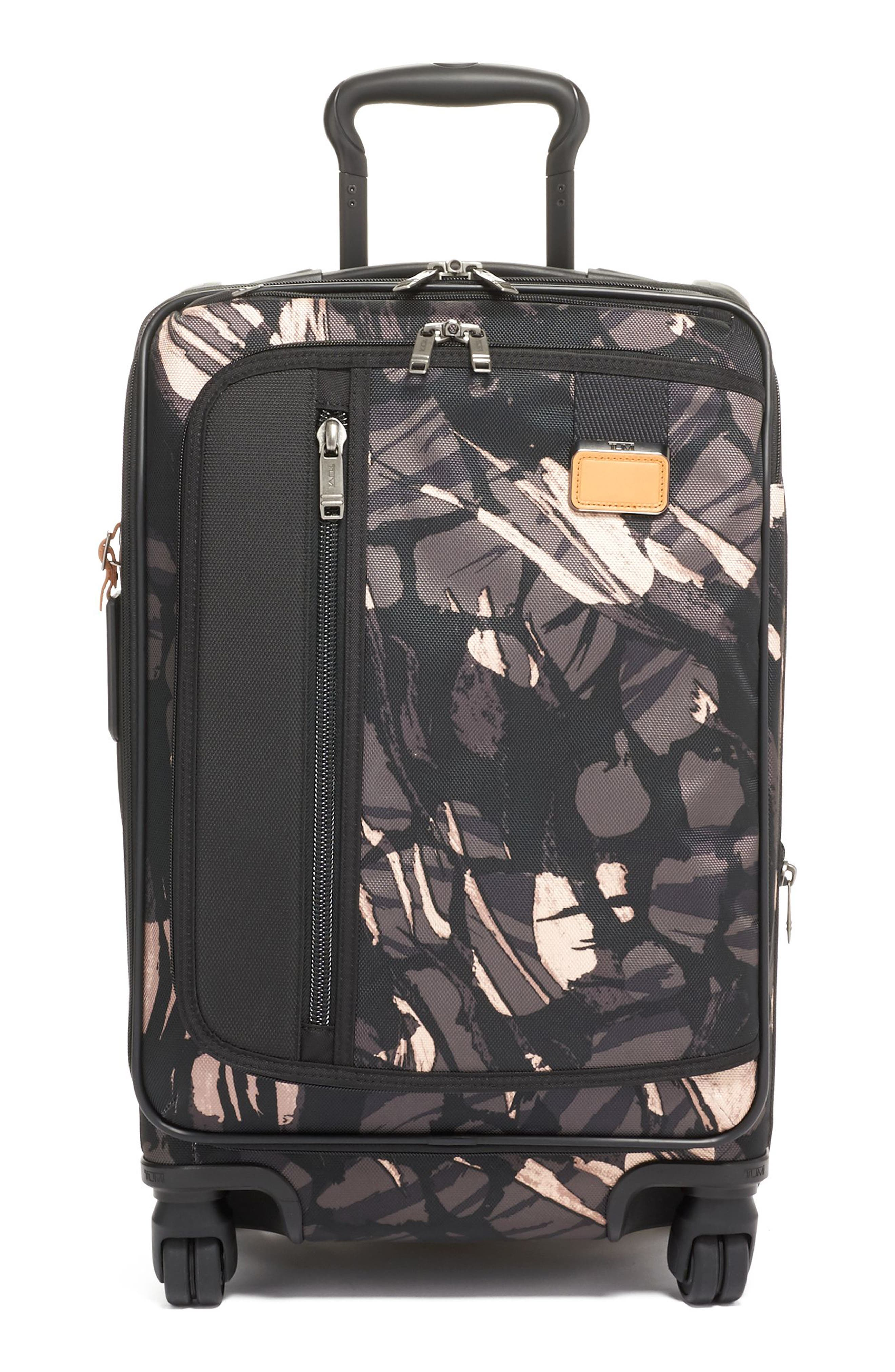 Merge 22-Inch International Expandable Rolling Carry-On,                             Main thumbnail 1, color,                             GREY HIGHLANDS PRINT