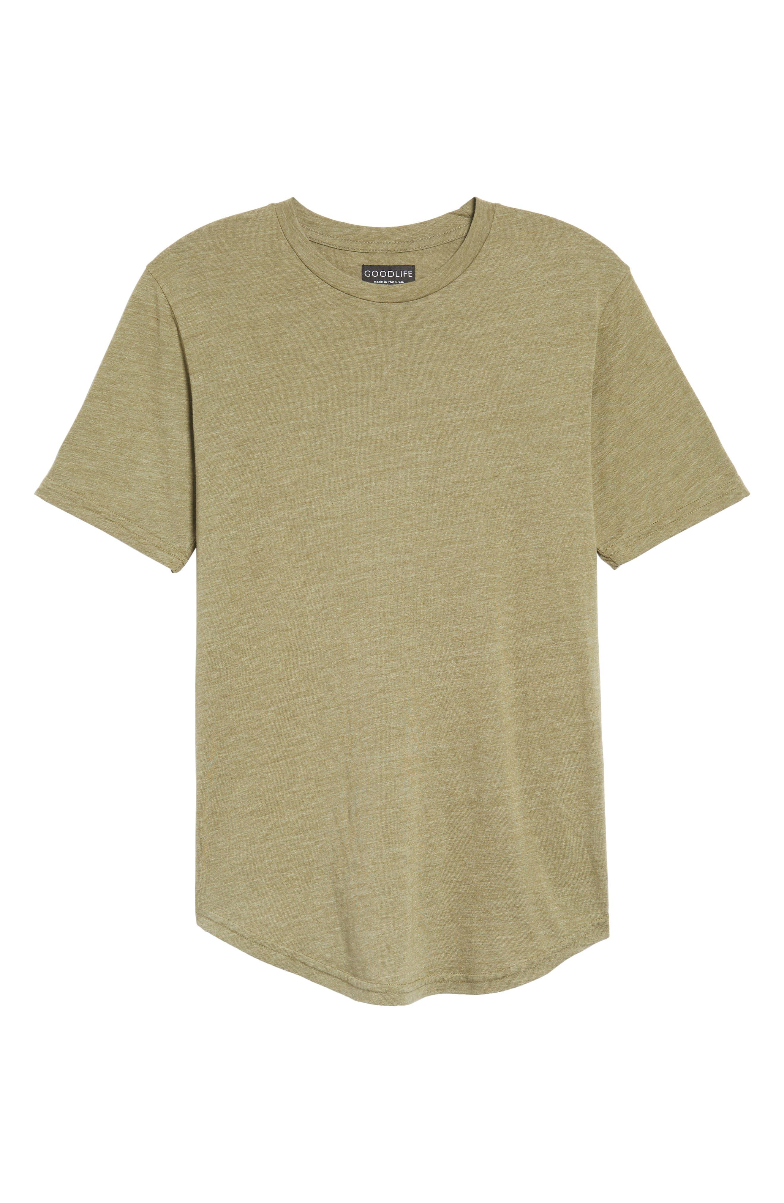 Scallop Triblend Crewneck T-Shirt,                             Alternate thumbnail 119, color,