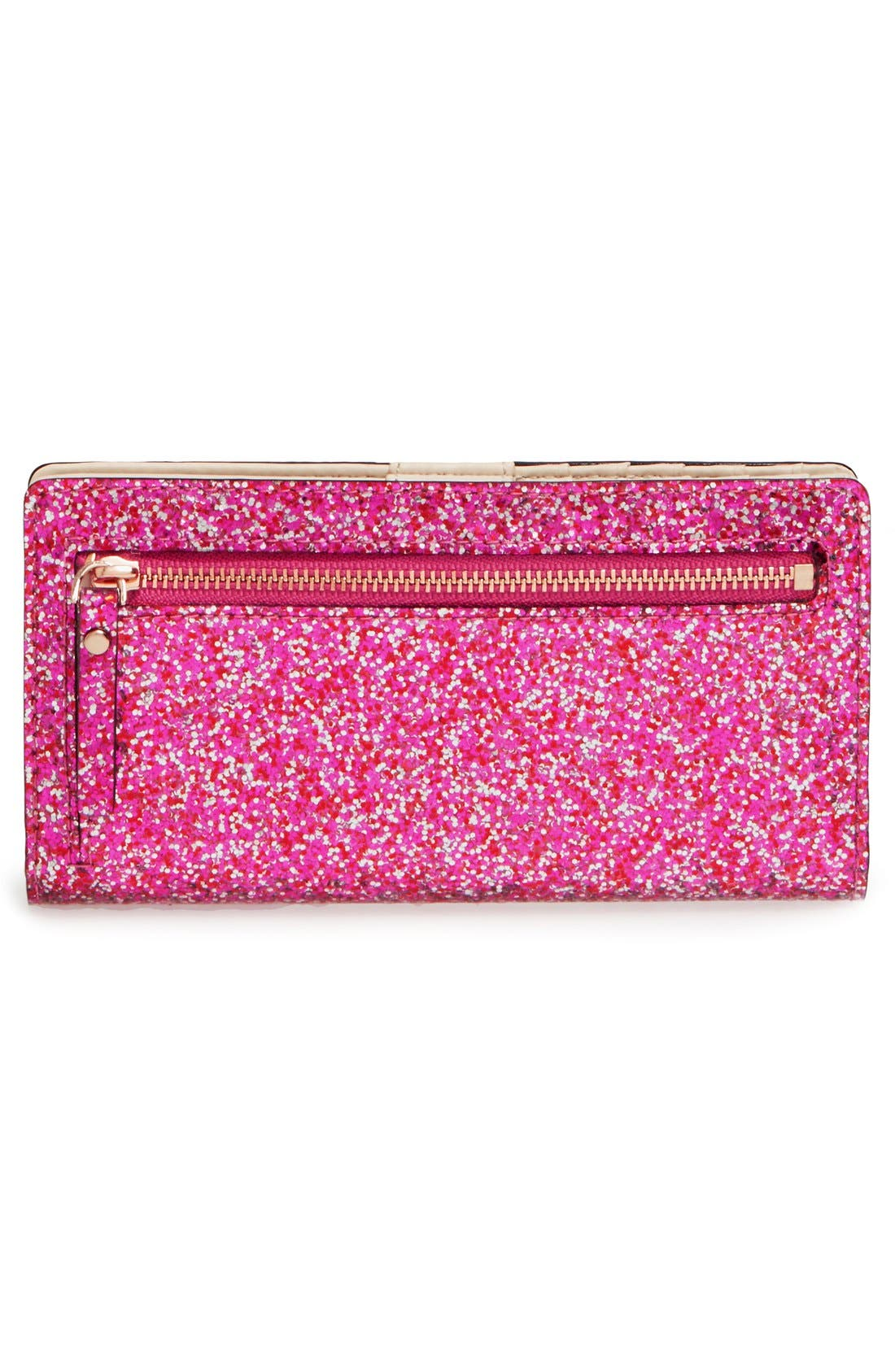 'glitter bug - stacy' snap wallet,                             Alternate thumbnail 5, color,                             600