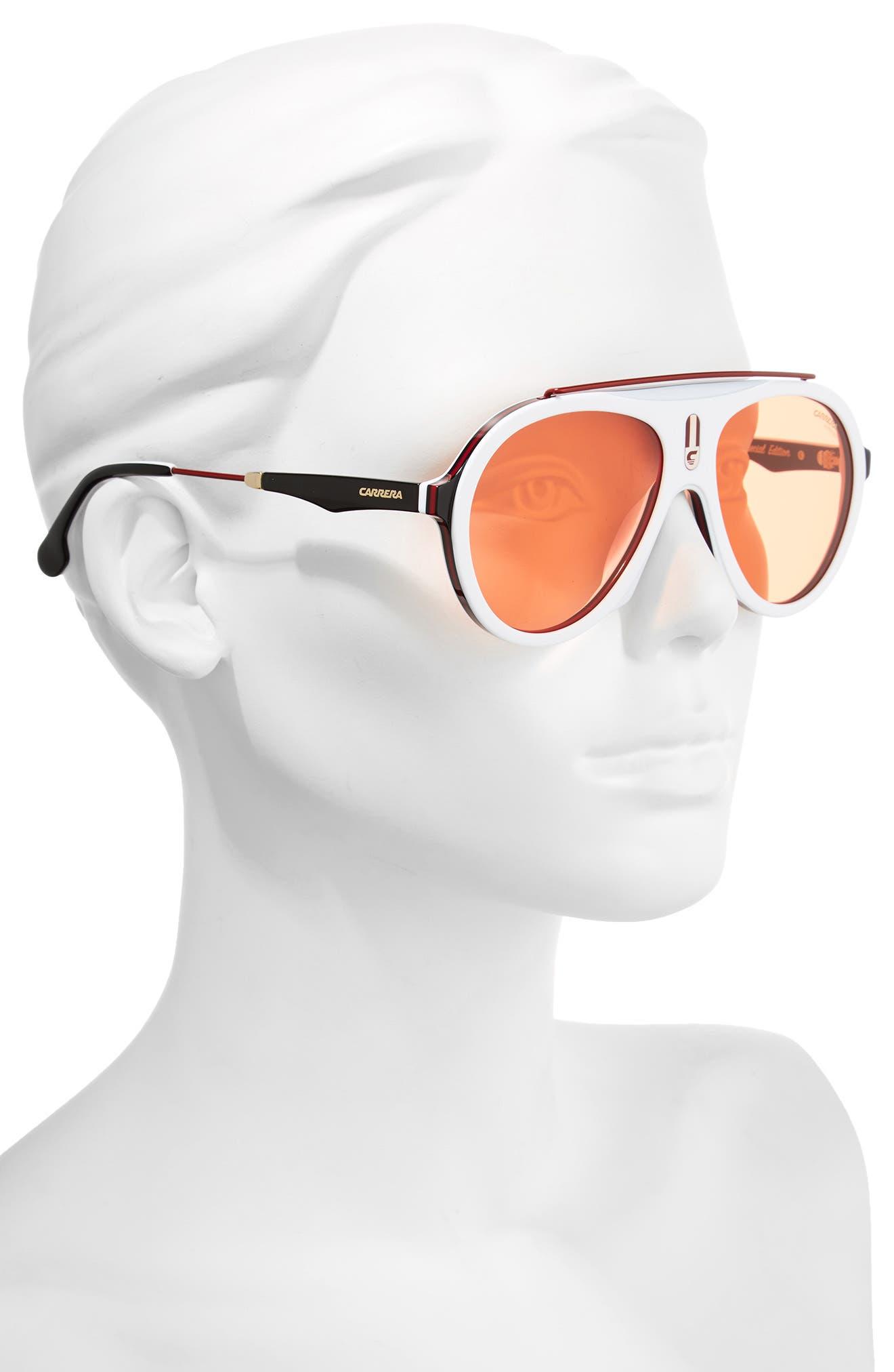 Carrera Flag 57mm Mirrored Pilot Sunglasses,                             Alternate thumbnail 10, color,