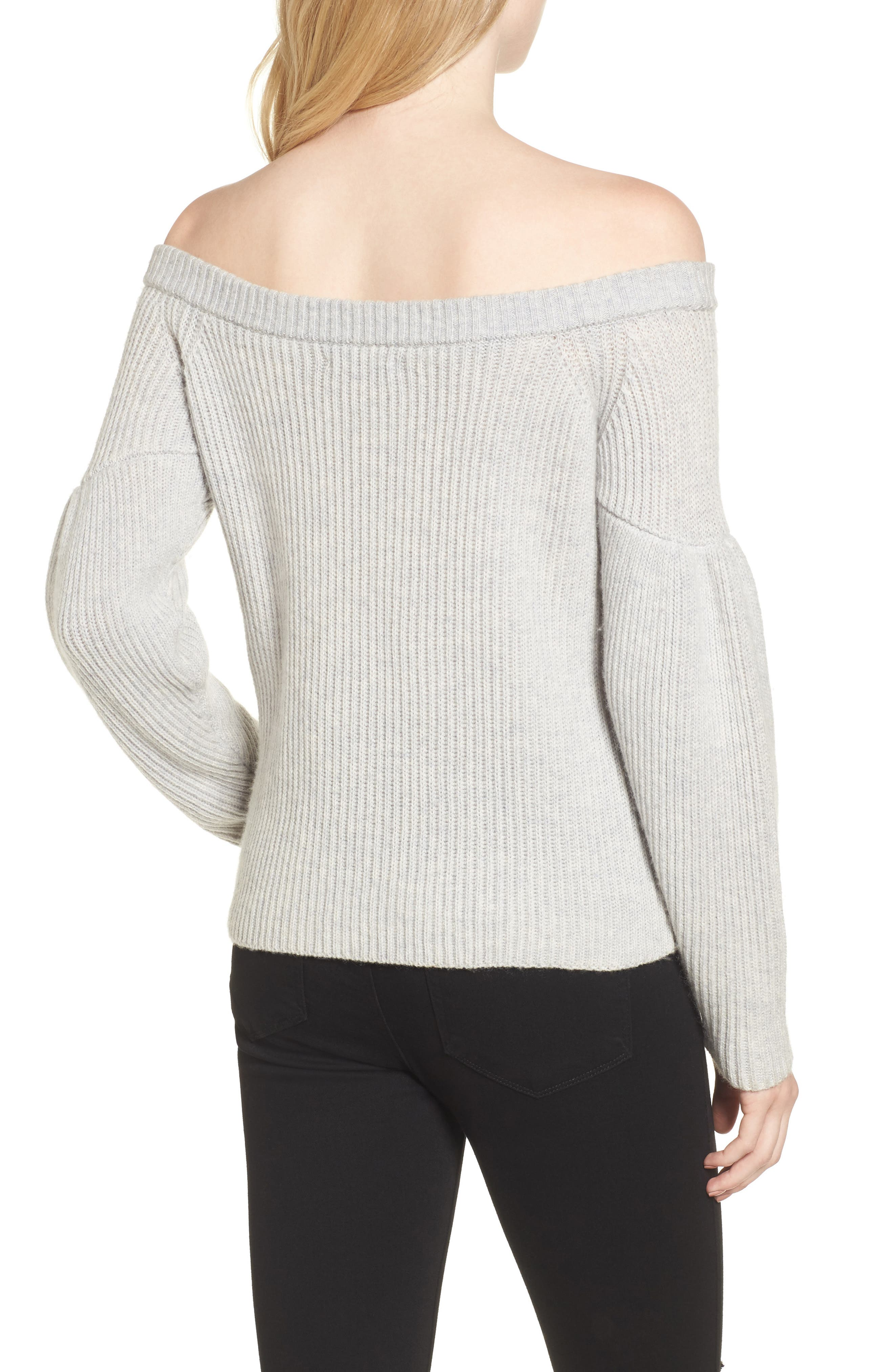 Lottie Off the Shoulder Sweater,                             Alternate thumbnail 3, color,
