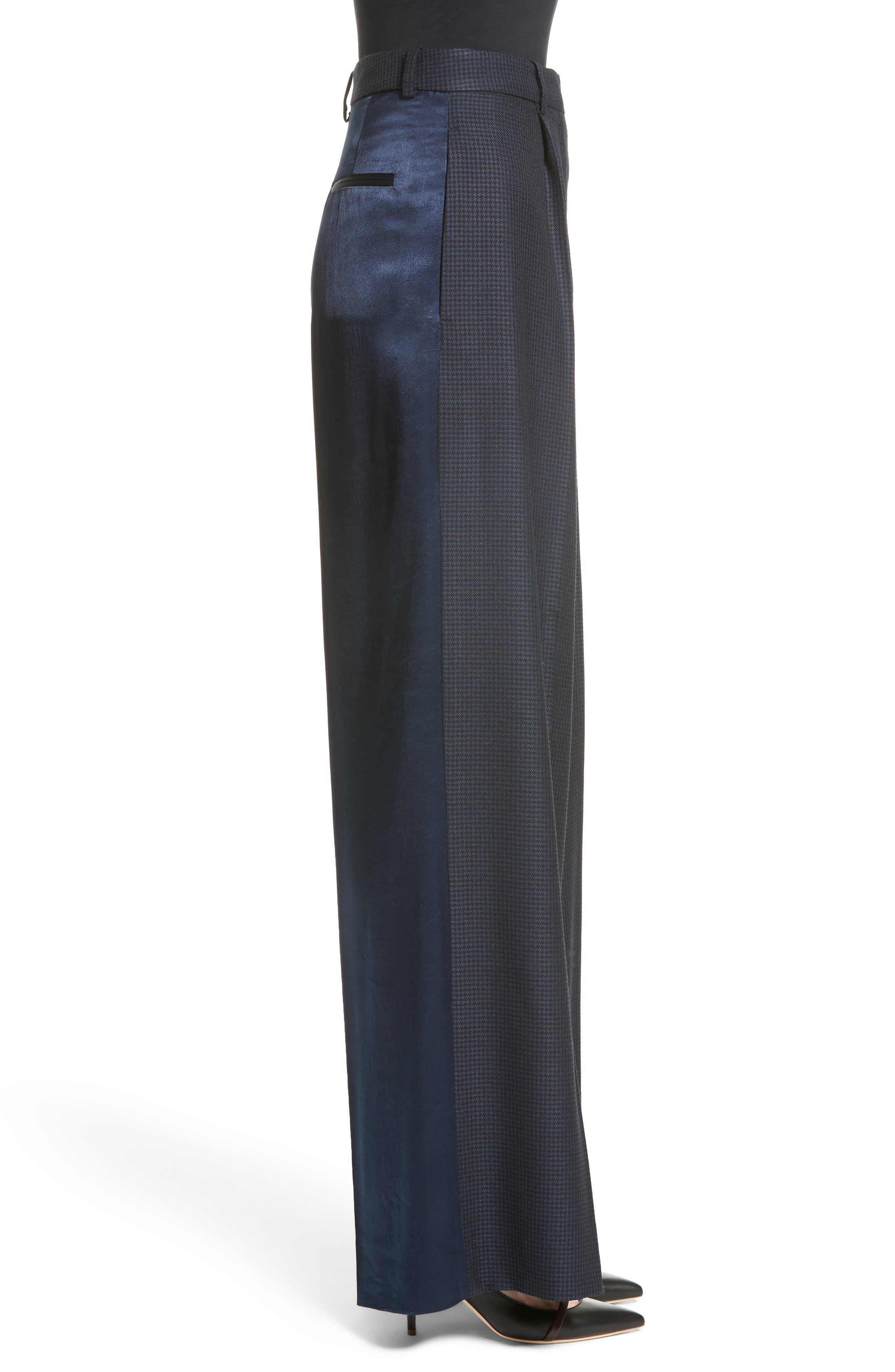 Houndstooth Wide Leg Pants,                             Alternate thumbnail 3, color,                             400