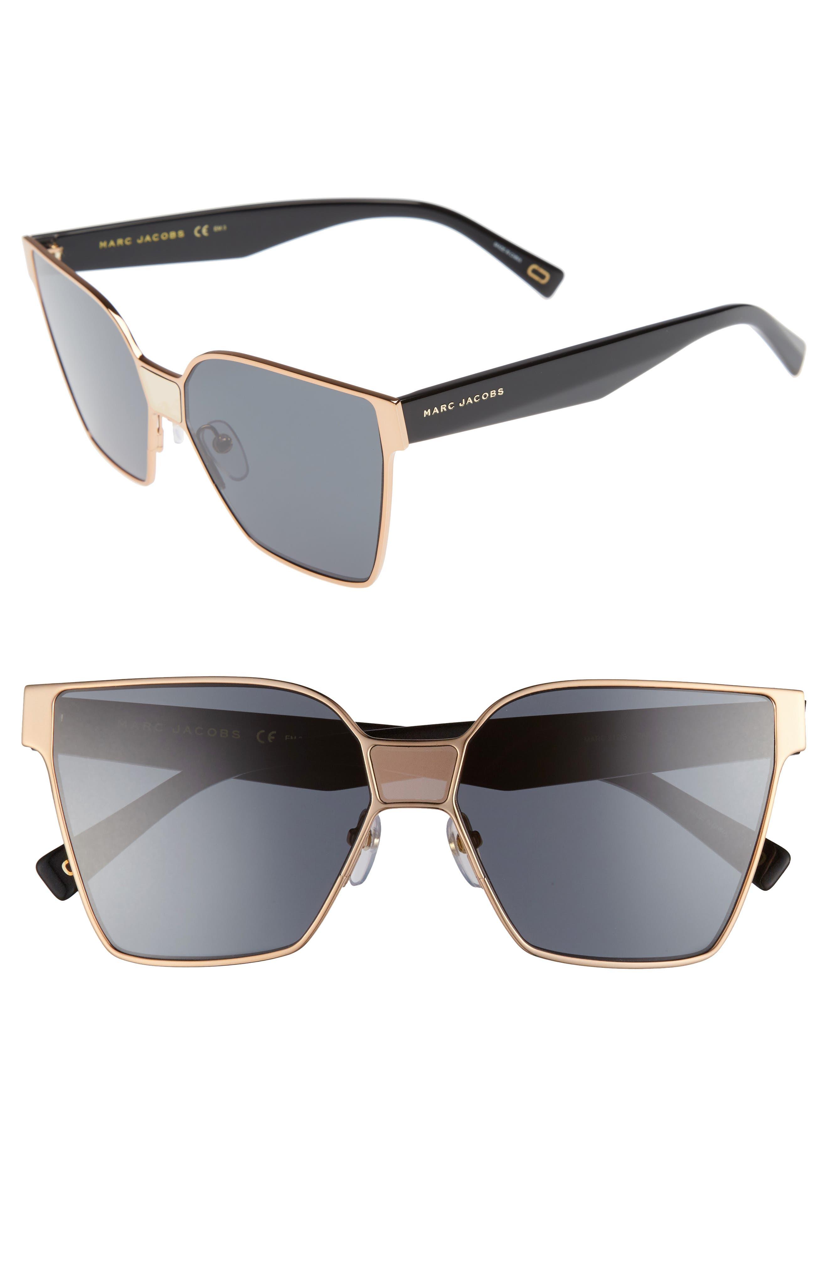 60mm Square Sunglasses,                             Main thumbnail 2, color,