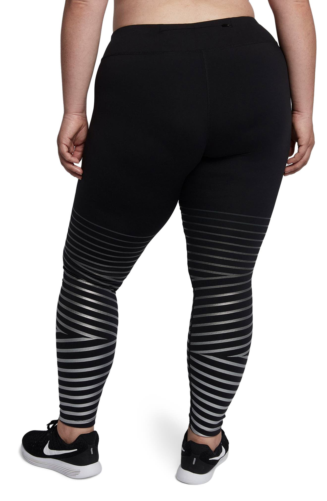Power Flash Epic Running Tights,                             Alternate thumbnail 3, color,                             010