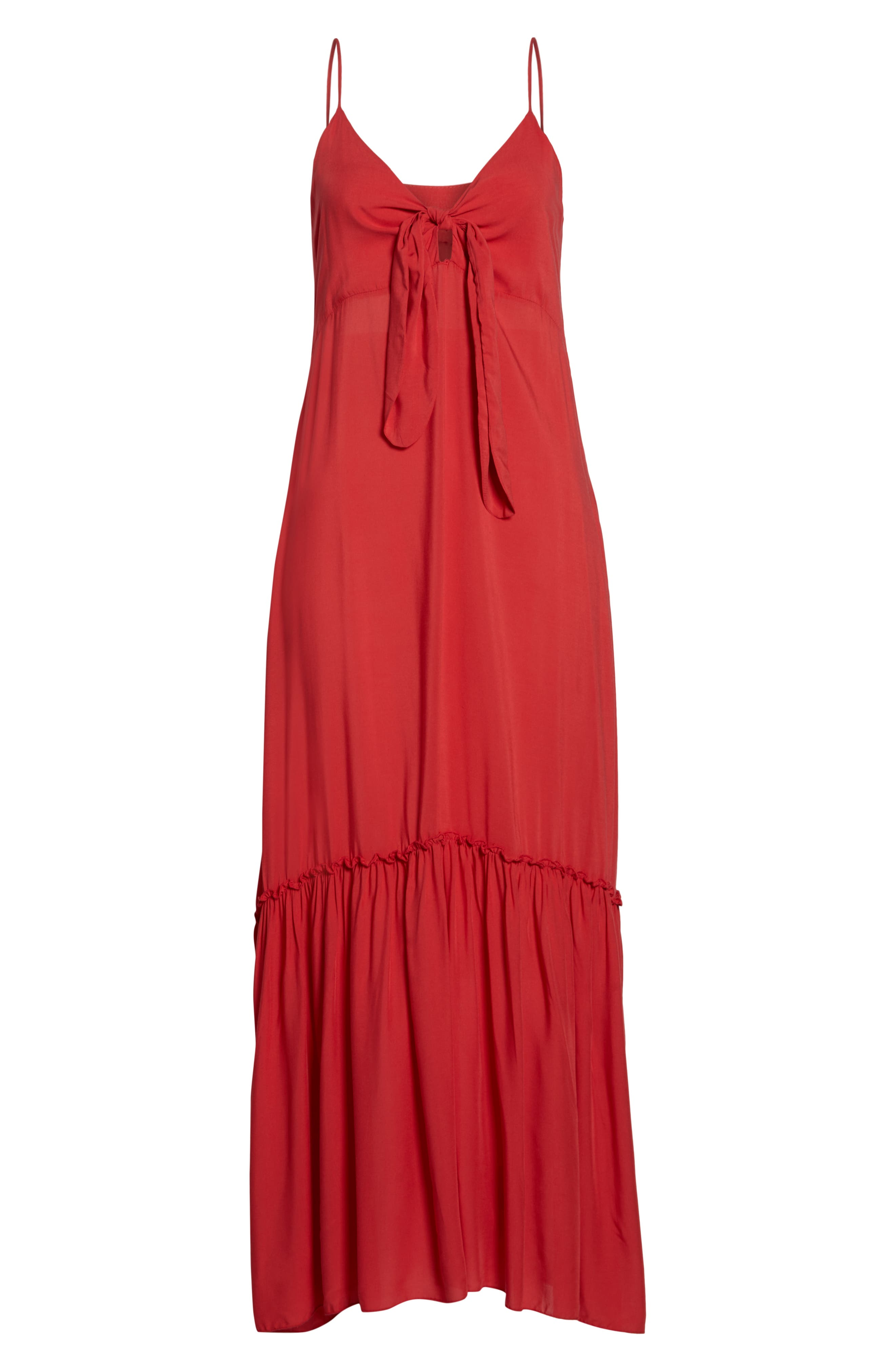 Maxi Cover-Up Dress,                             Alternate thumbnail 6, color,                             CORAL