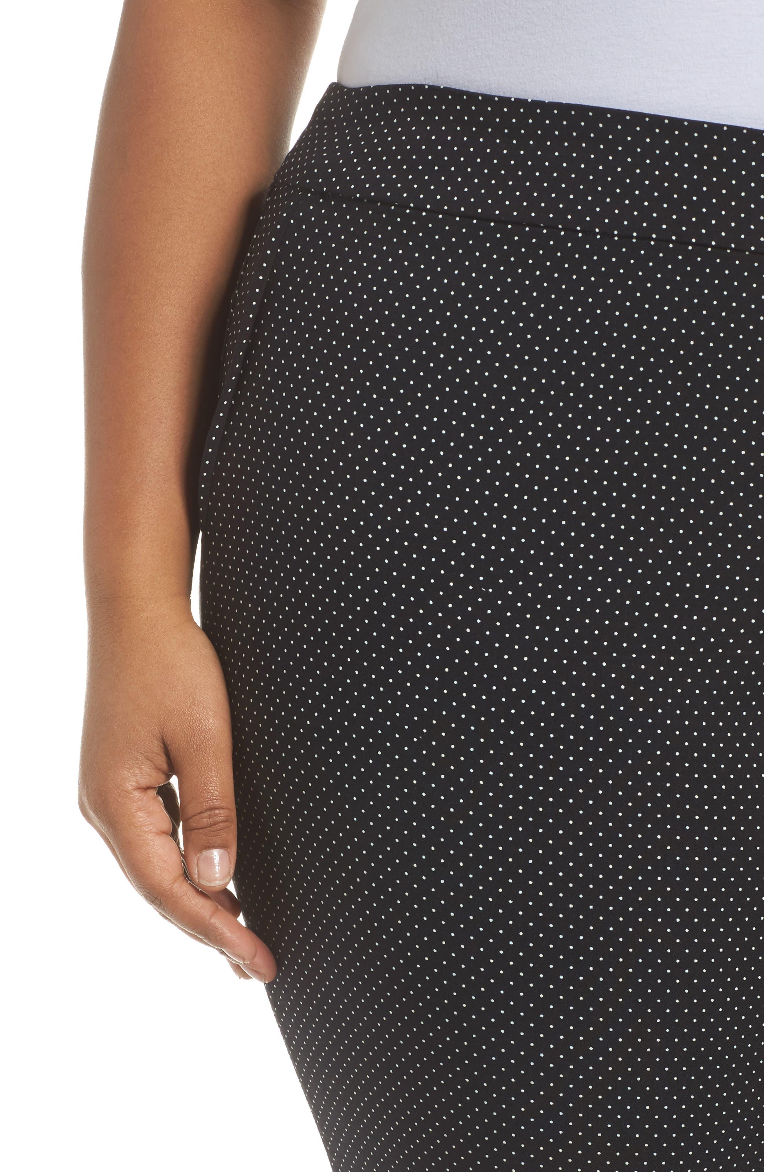 Polka Dot Crop Pants,                             Alternate thumbnail 4, color,                             001