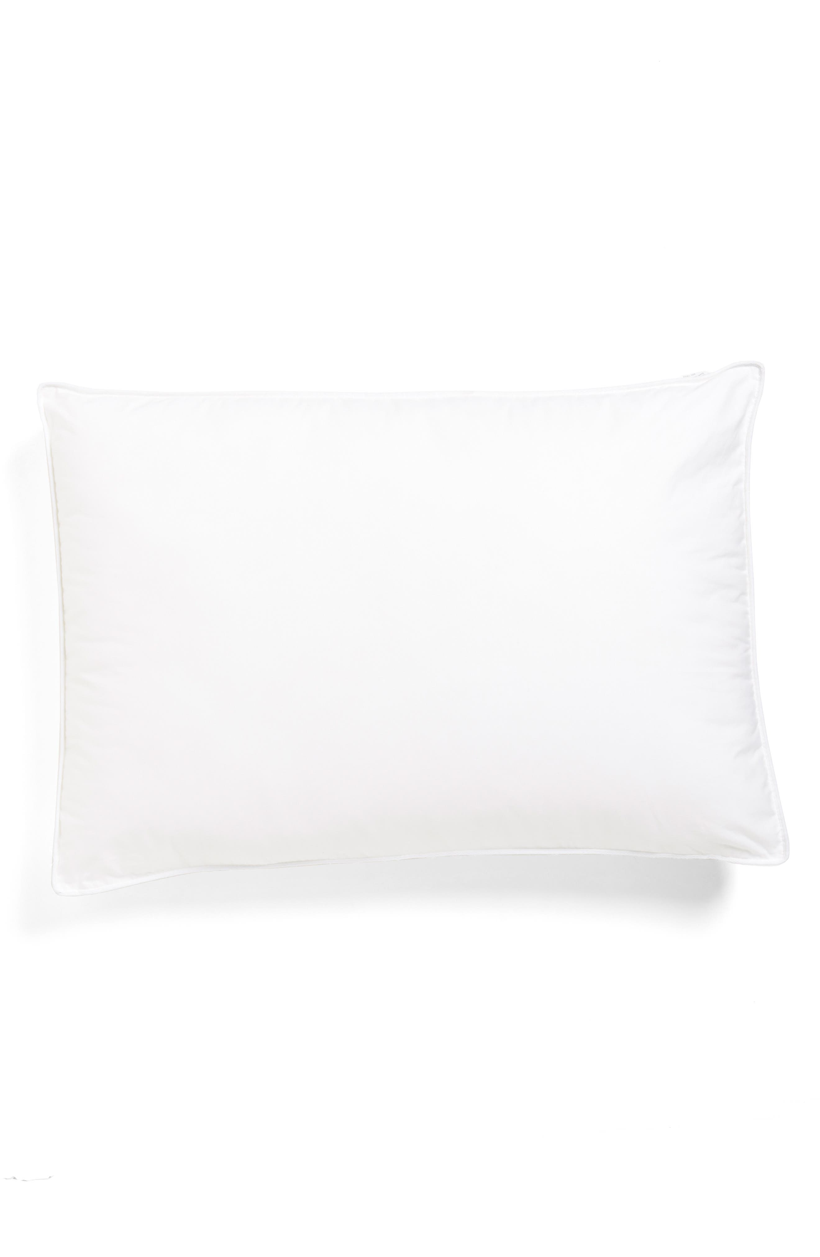 NORDSTROM AT HOME,                             300 Thread Count MicroMax<sup>™</sup> Down Alternative Pillow,                             Main thumbnail 1, color,                             WHITE
