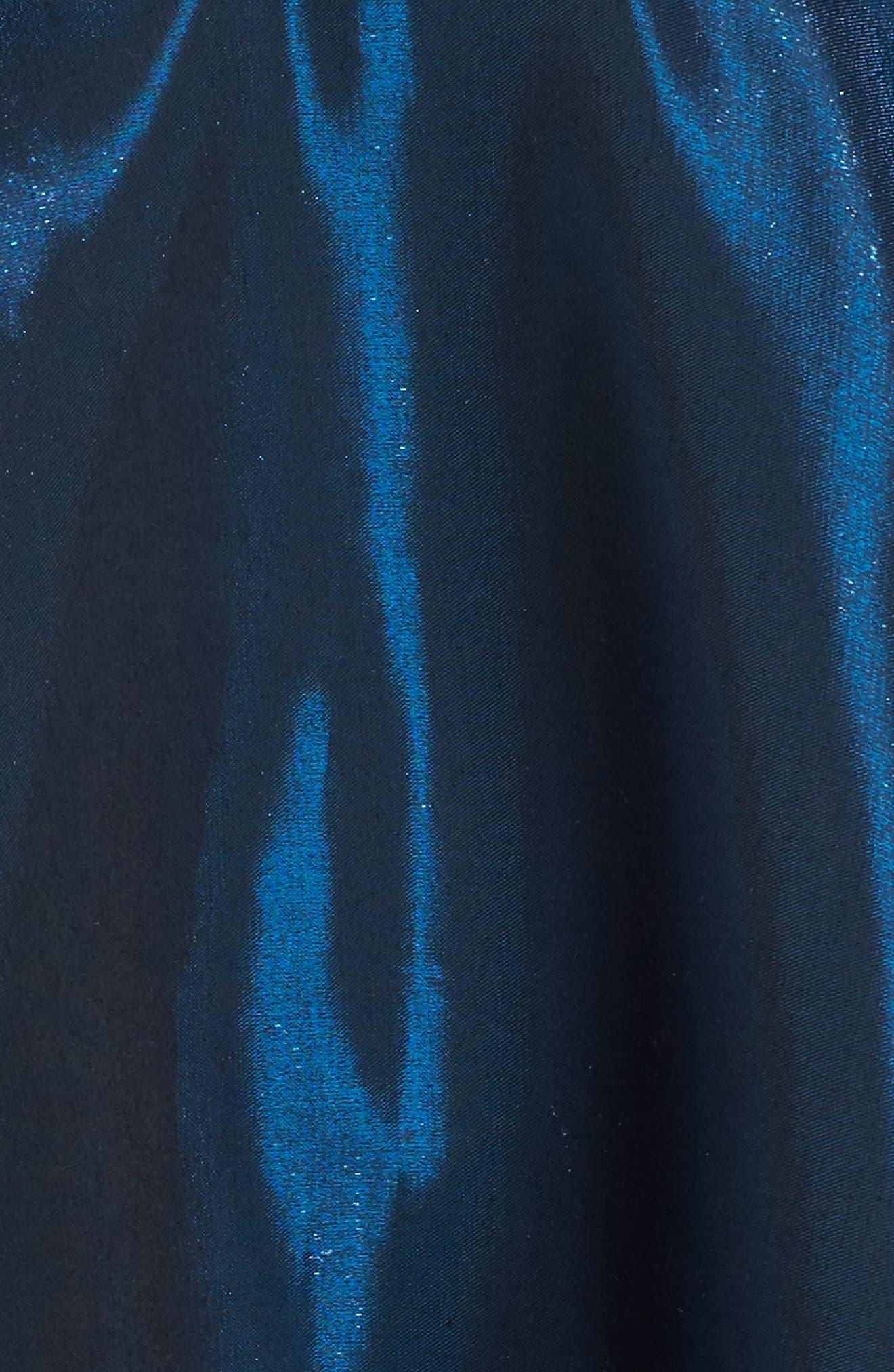 Shimmer Fit & Flare Dress,                             Alternate thumbnail 5, color,                             400