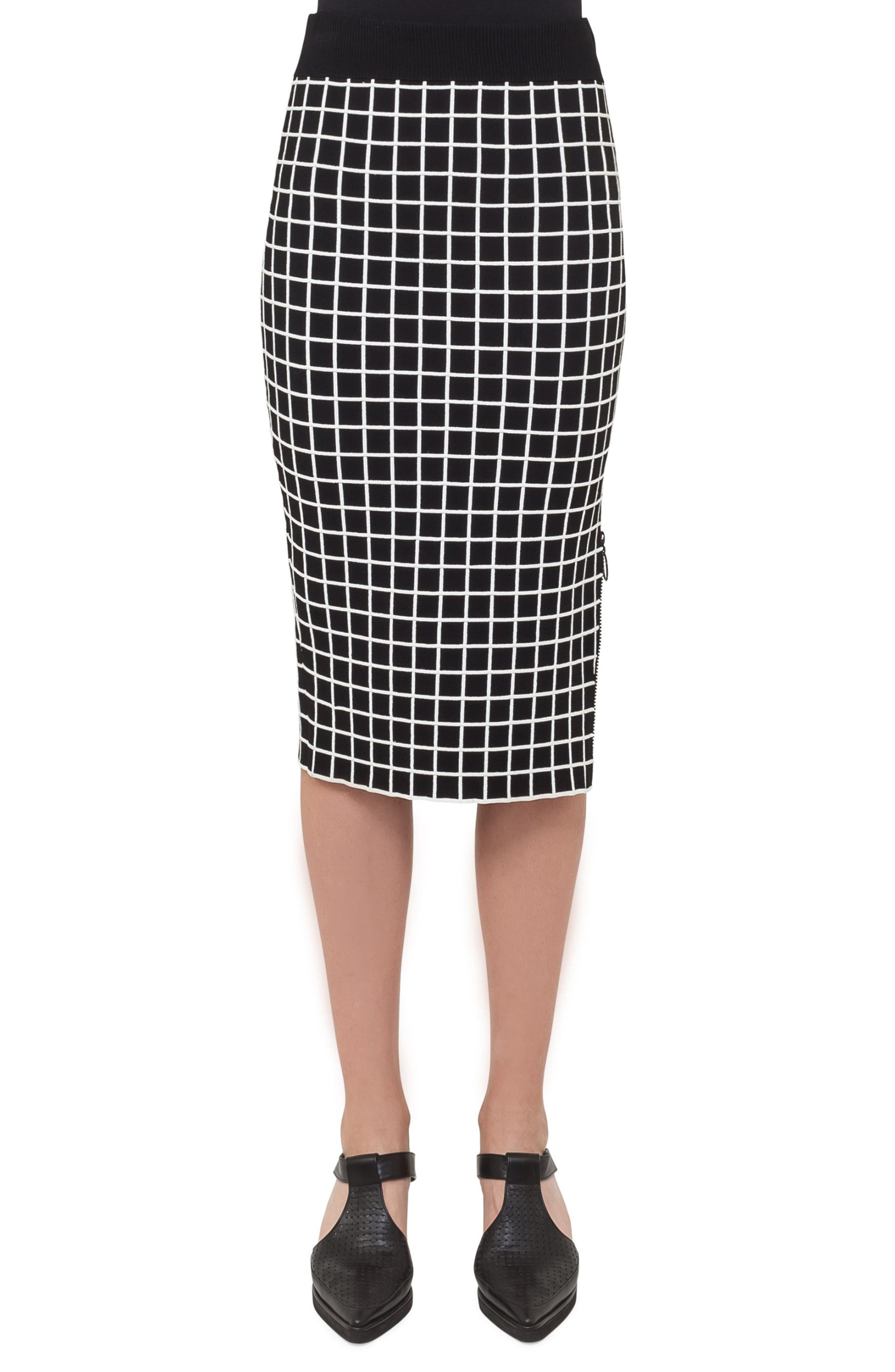 Grid Knit Pencil Skirt,                             Main thumbnail 1, color,                             960