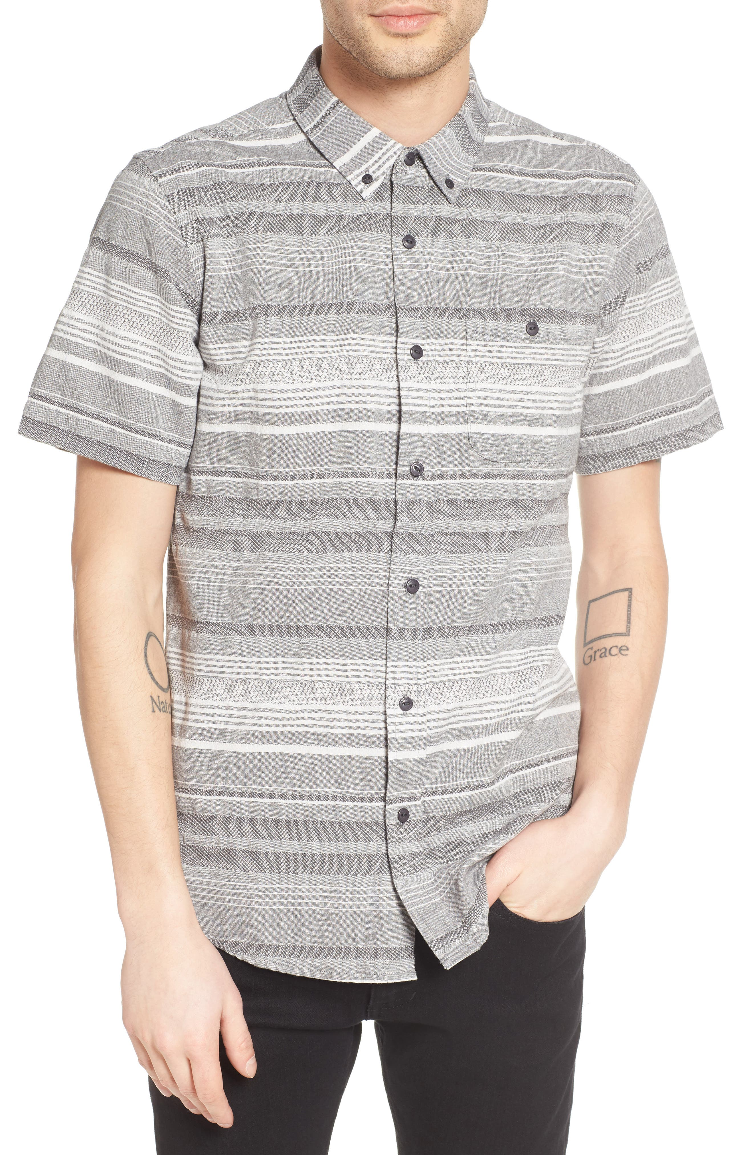 Striped Woven Shirt,                         Main,                         color, 020