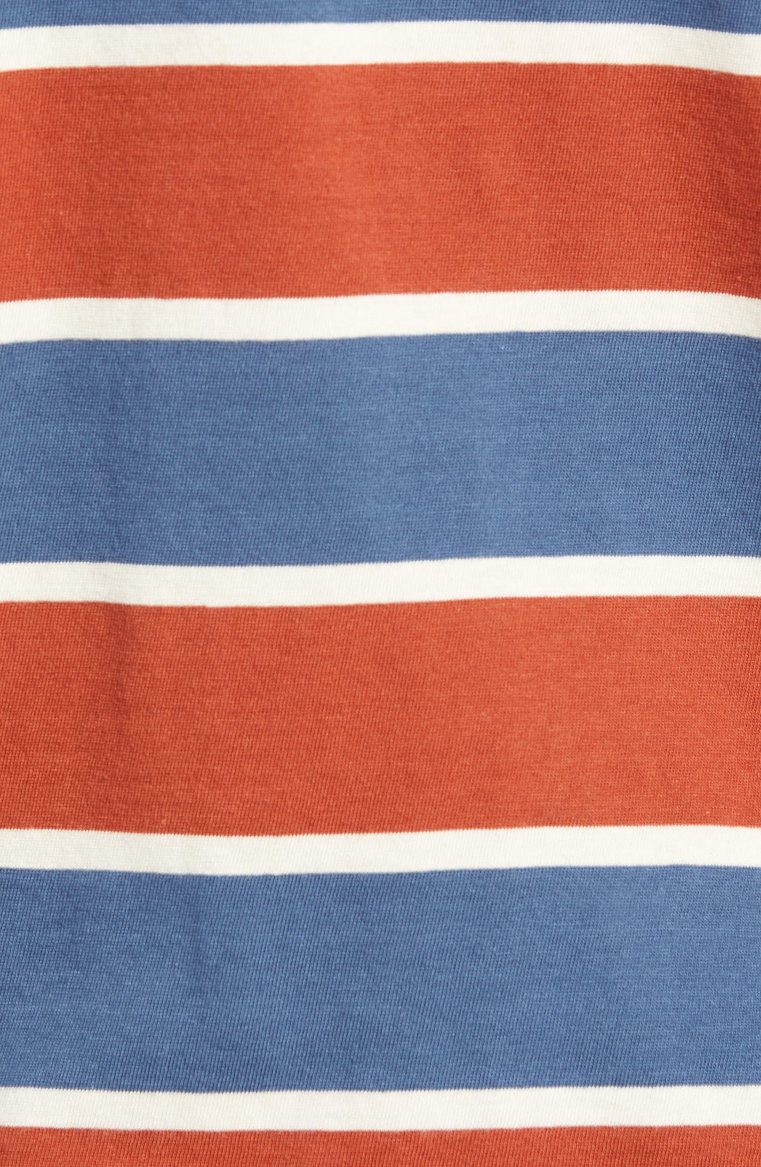 1960s Slim Fit Stripe T-Shirt,                             Alternate thumbnail 5, color,                             DARK DENIM MULTI STRIPE