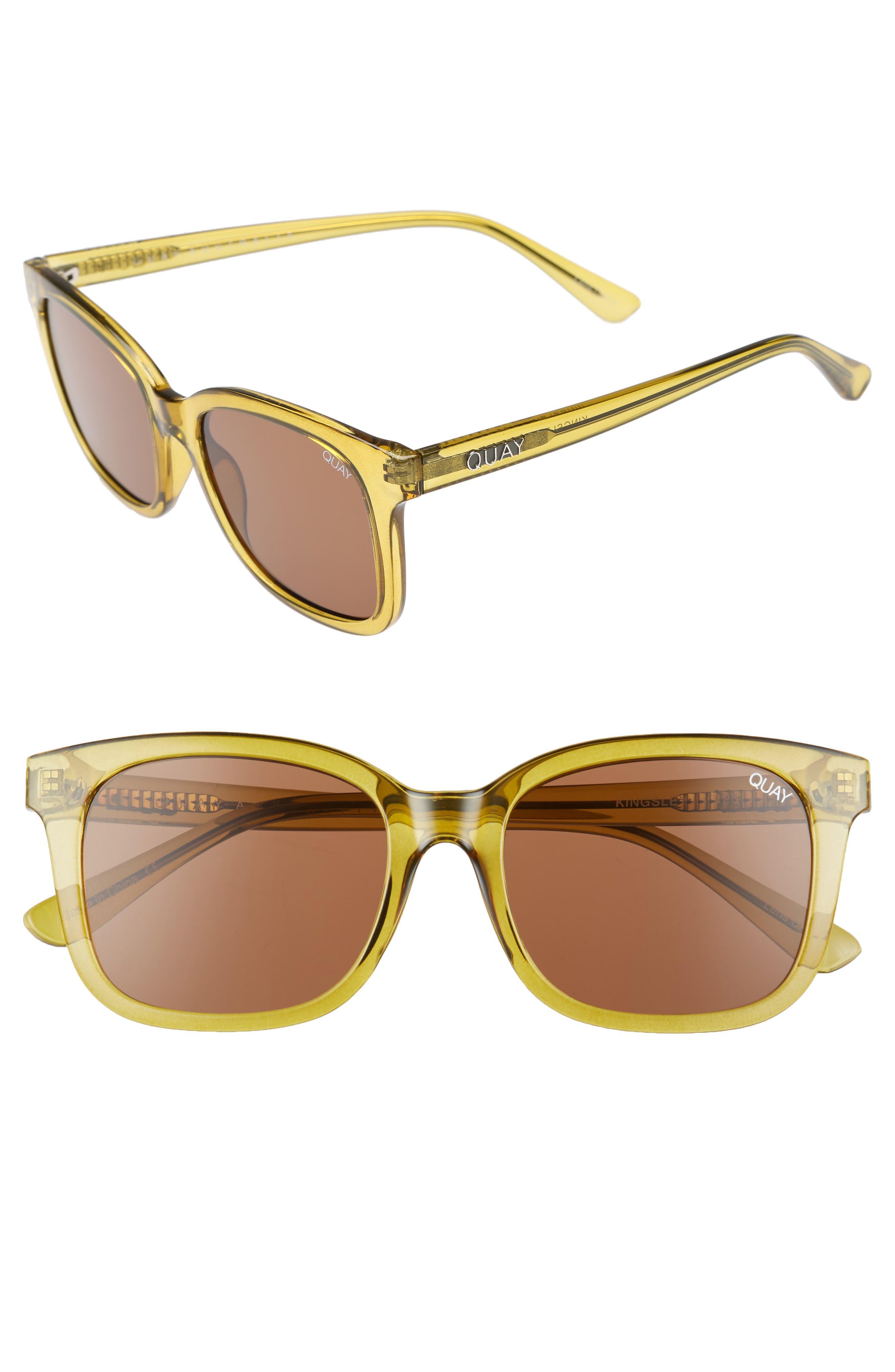 Quay Australia Kingsley 52Mm Sunglasses - Olive/ Brown
