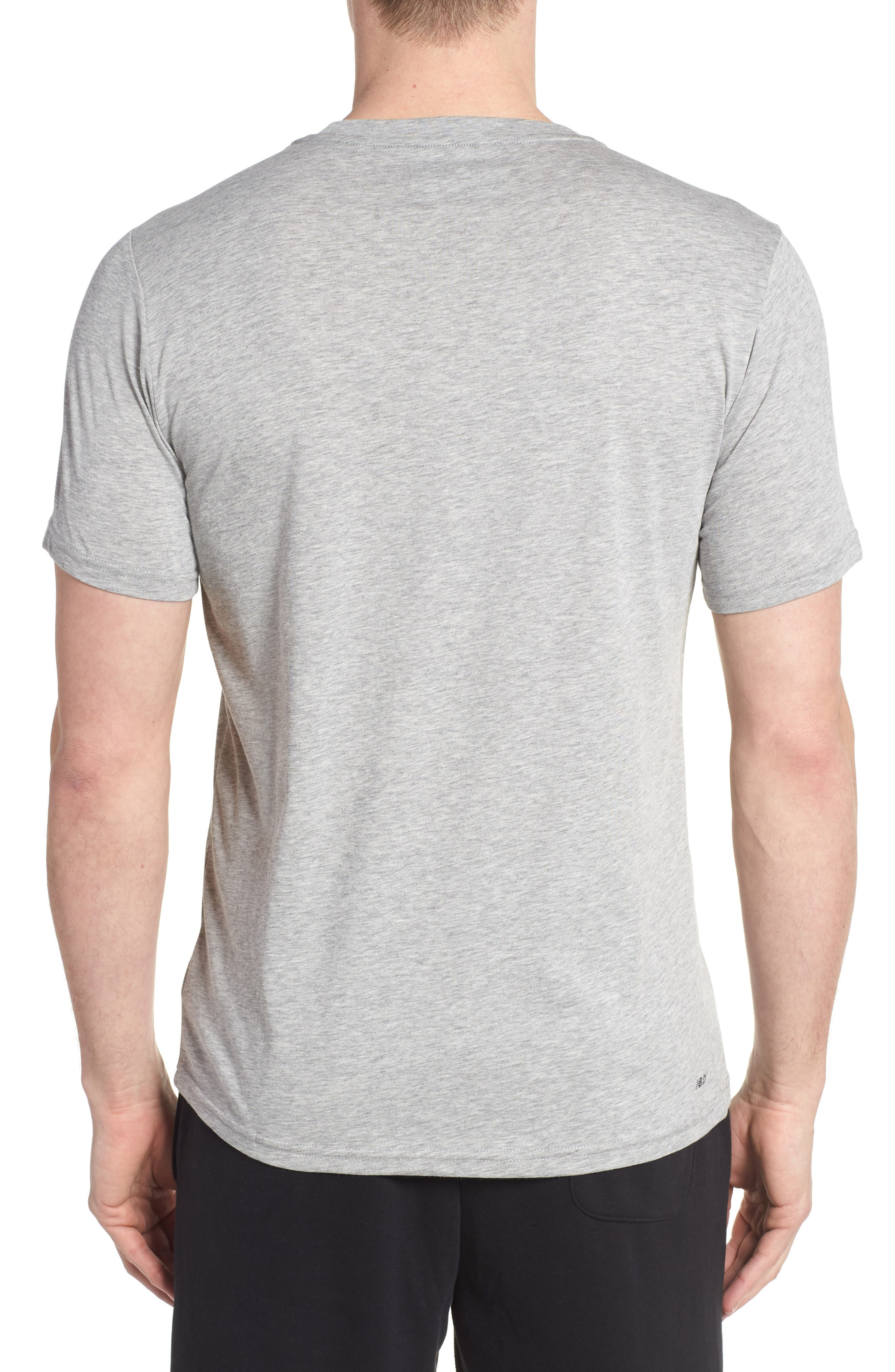 Heather Tech Crewneck T-Shirt,                             Alternate thumbnail 2, color,                             ATHLETIC GREY