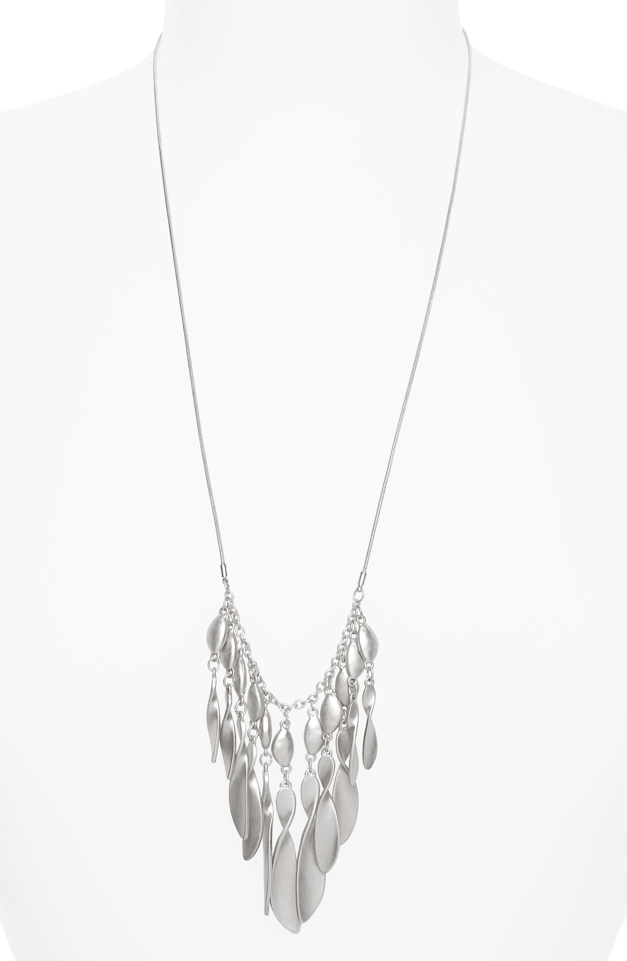 Organic Twist Fringe Pendant Necklace,                             Main thumbnail 1, color,                             040