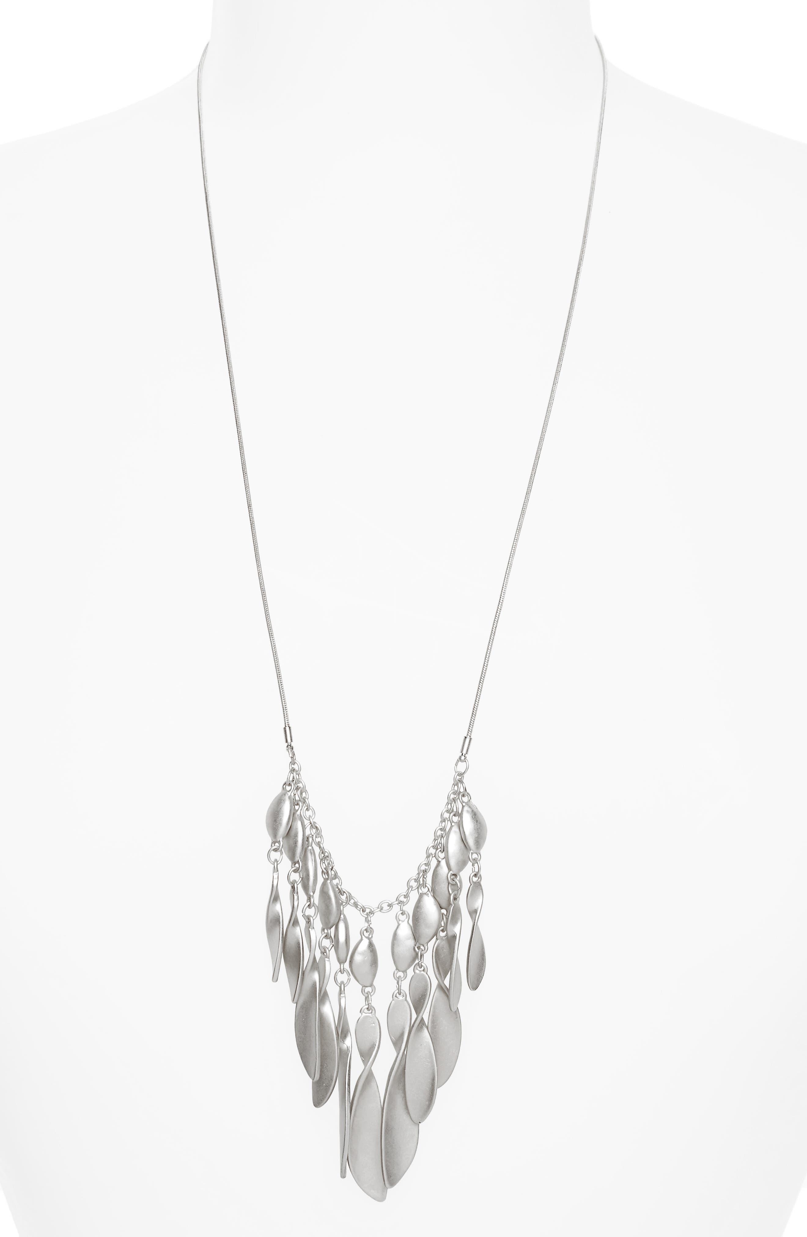 Organic Twist Fringe Pendant Necklace,                         Main,                         color, 040