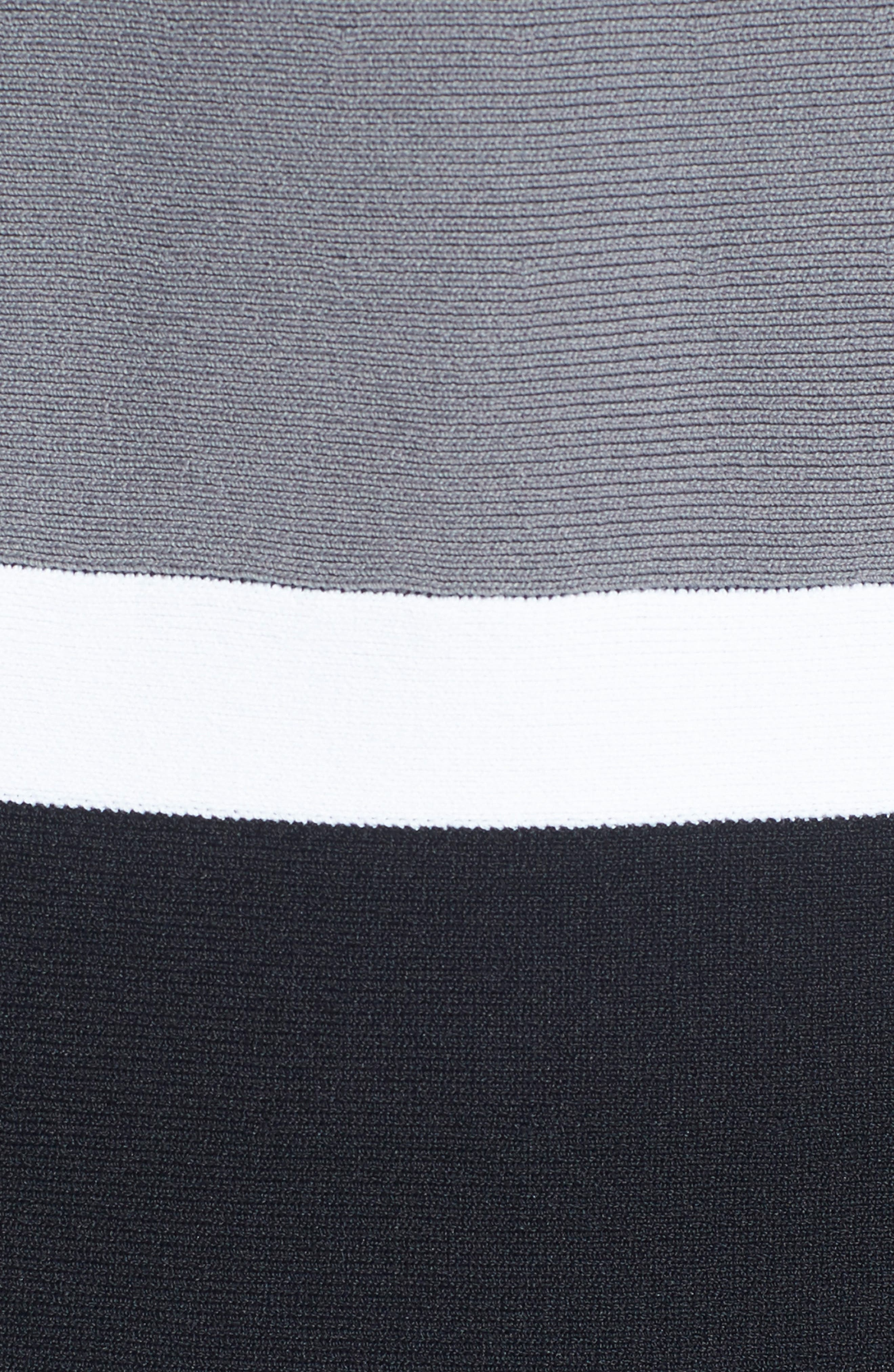 Colorblock A-Line Knit Dress,                             Alternate thumbnail 7, color,