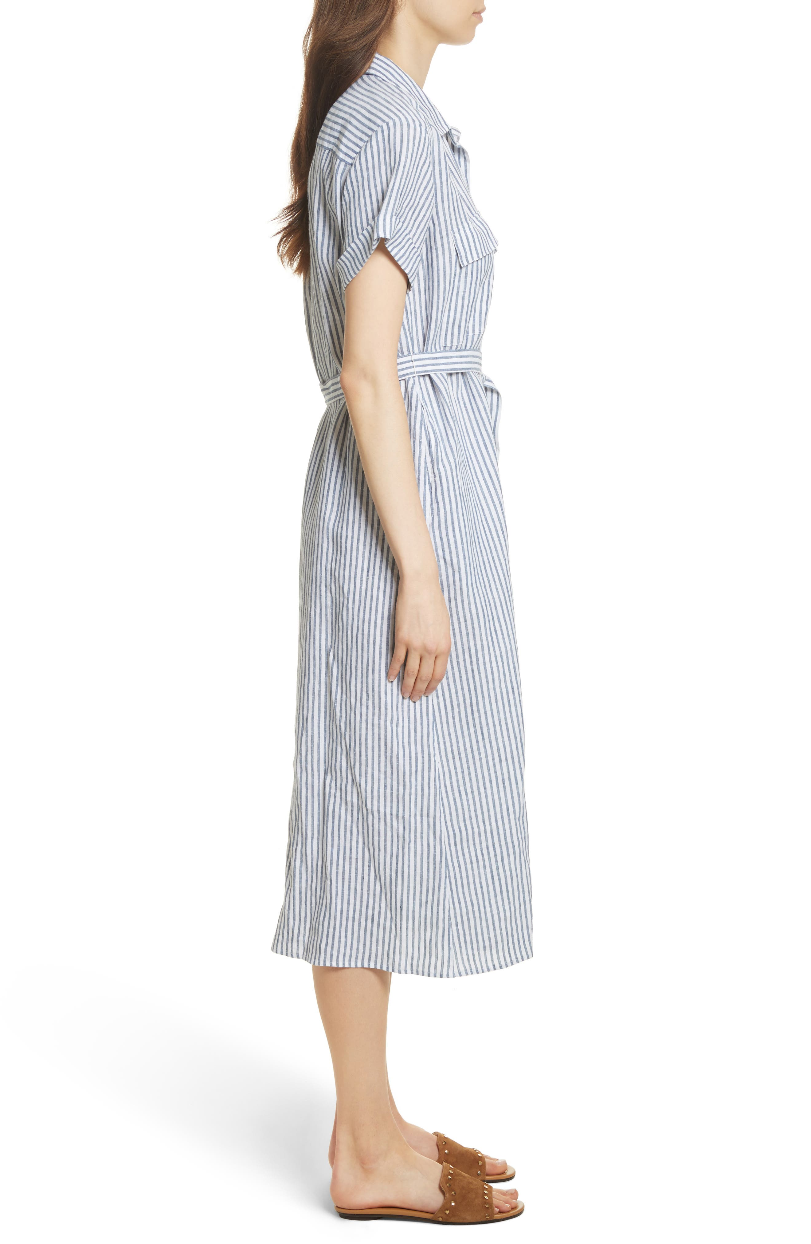 Le Shirt Dress,                             Alternate thumbnail 3, color,                             MEDIUM BLUE MULTI
