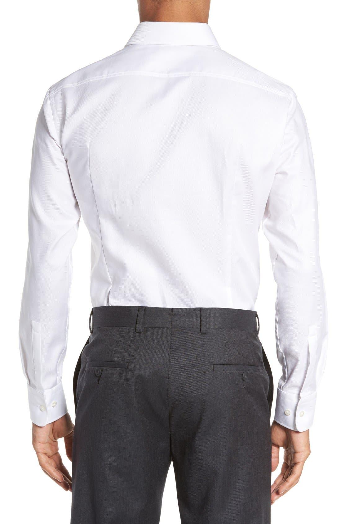 Sharp Fit Dress Shirt,                             Alternate thumbnail 3, color,                             100