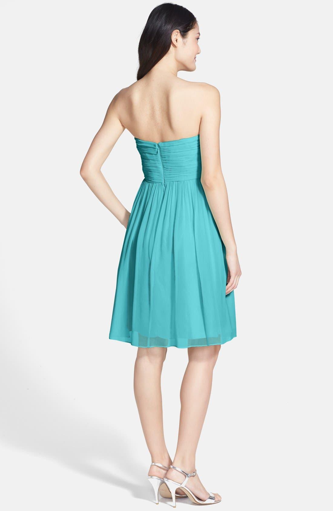 'Morgan' Strapless Silk Chiffon Dress,                             Alternate thumbnail 86, color,