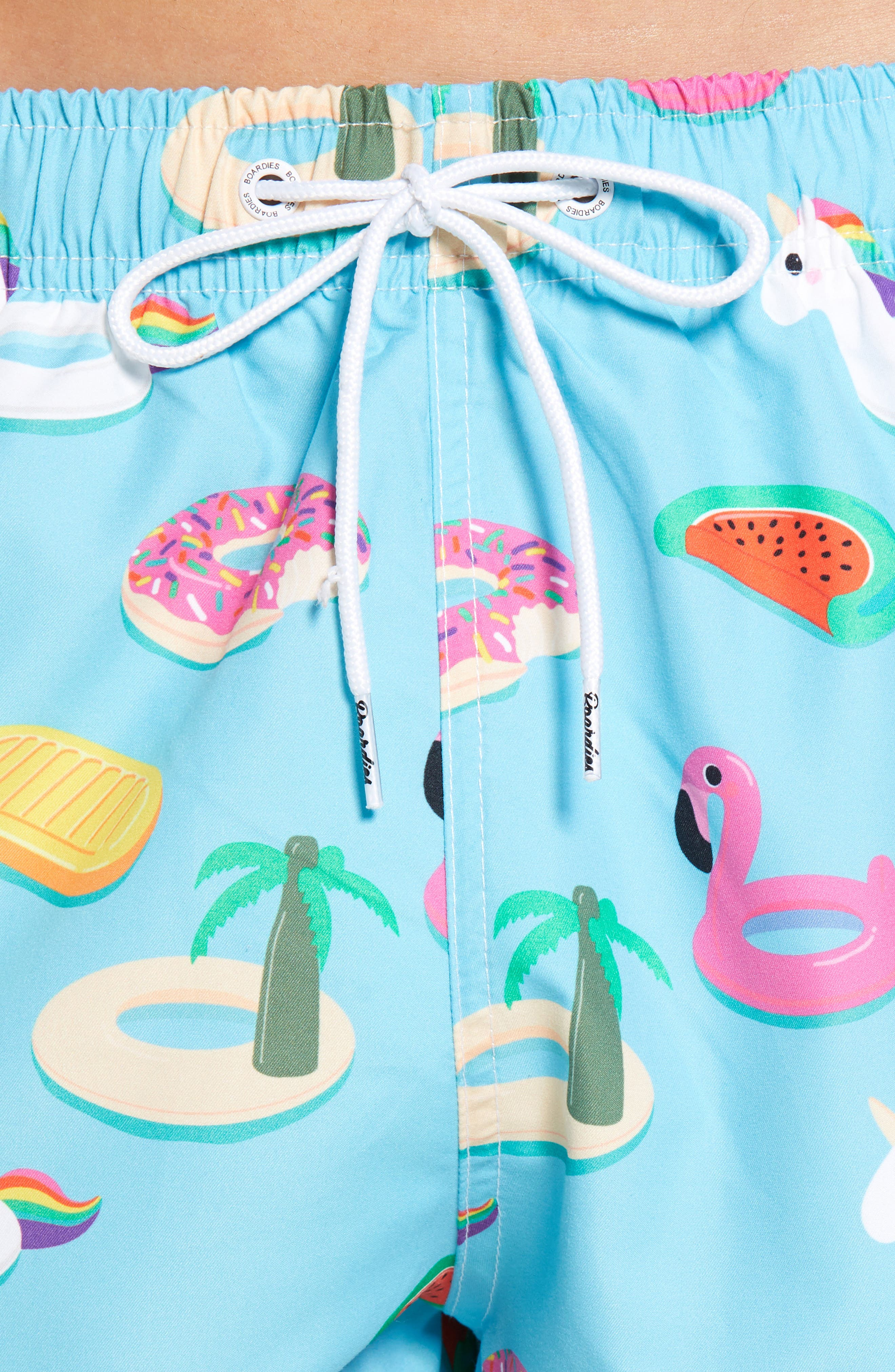 Boards Inflataballs Print Swim Trunks,                             Alternate thumbnail 4, color,                             BLUE
