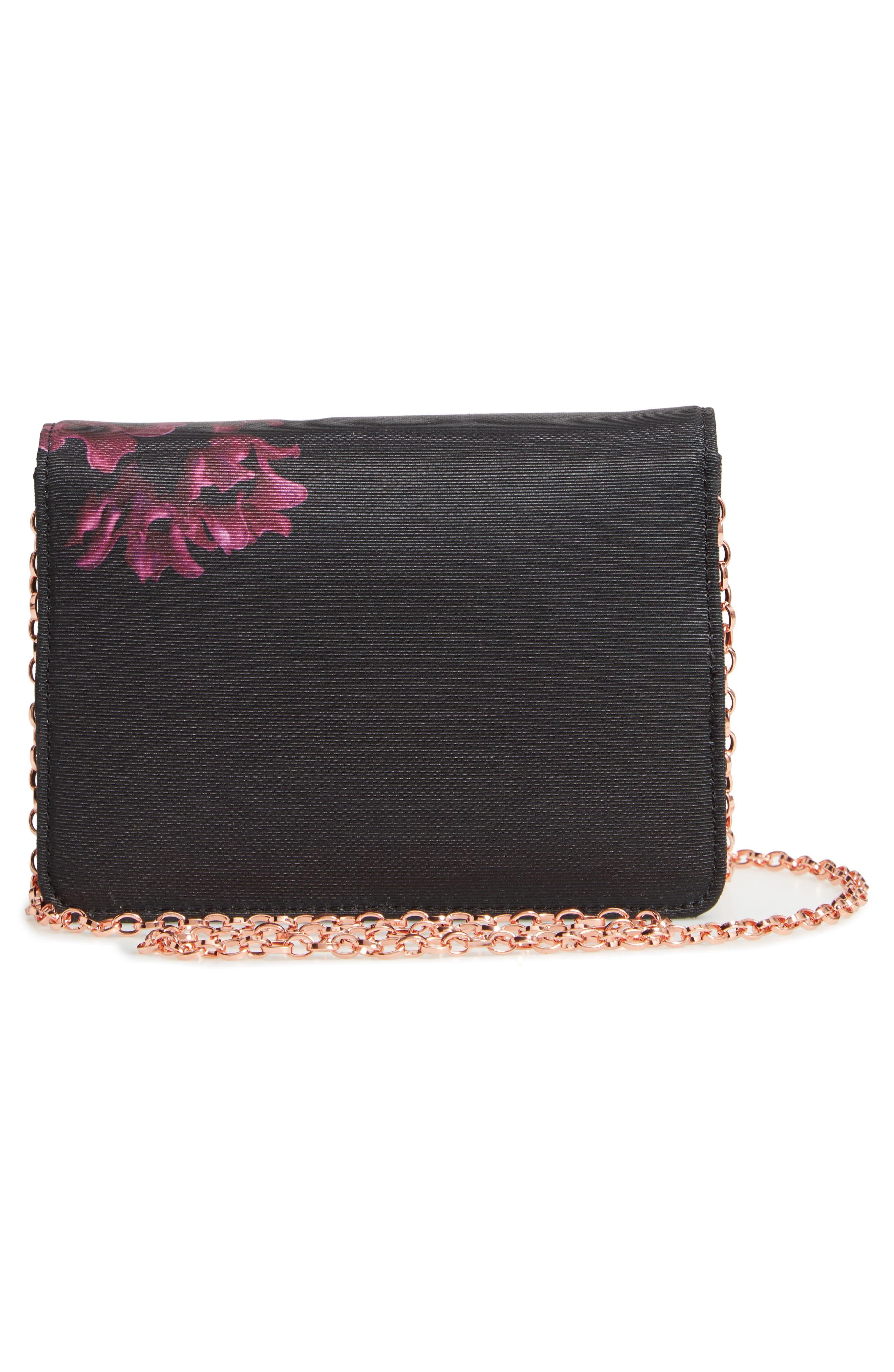 Splendour Mini Bow Evening Bag,                             Alternate thumbnail 3, color,                             001