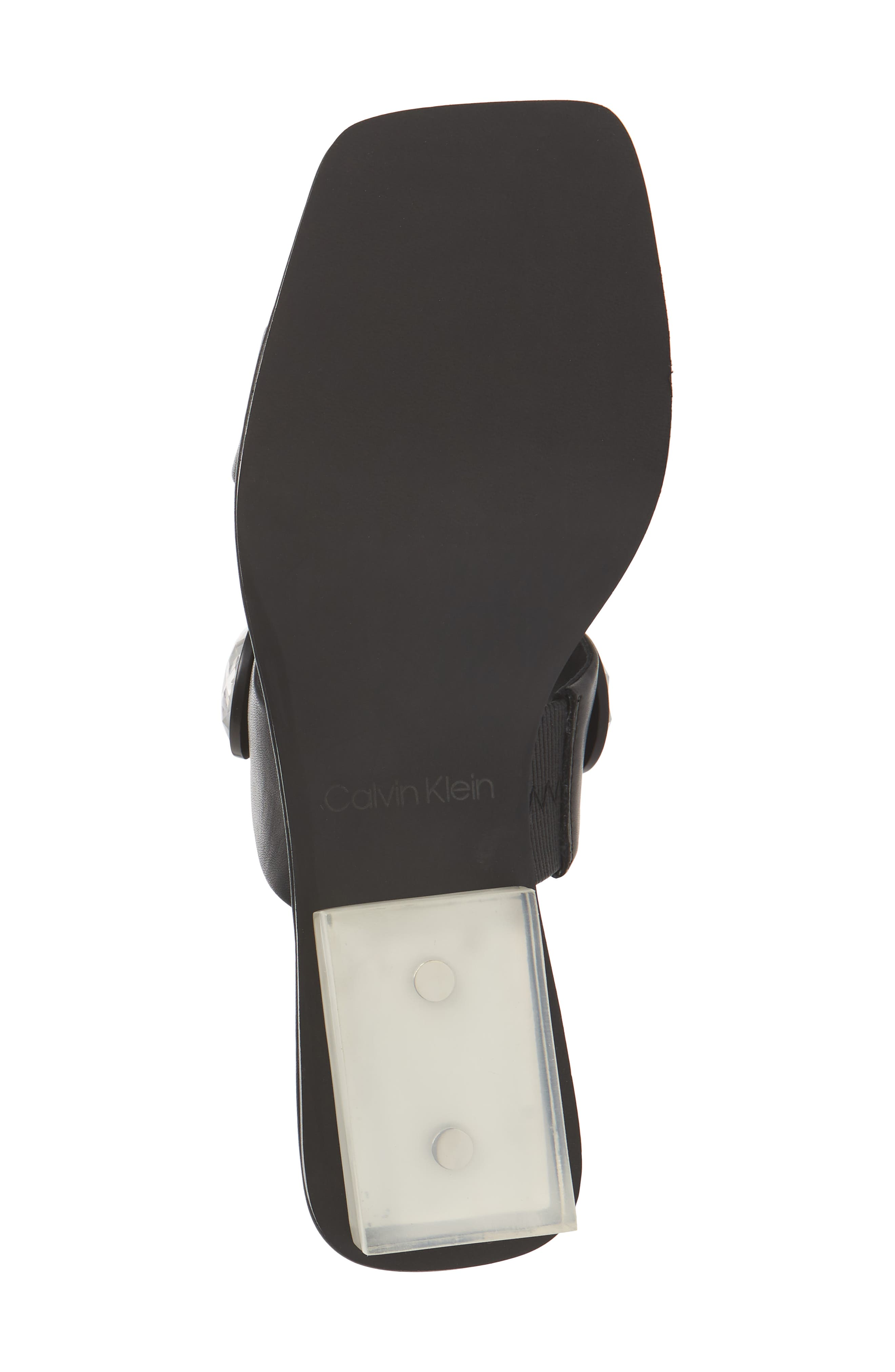 Kace Crystal Embellished Slide Sandal,                             Alternate thumbnail 6, color,                             001
