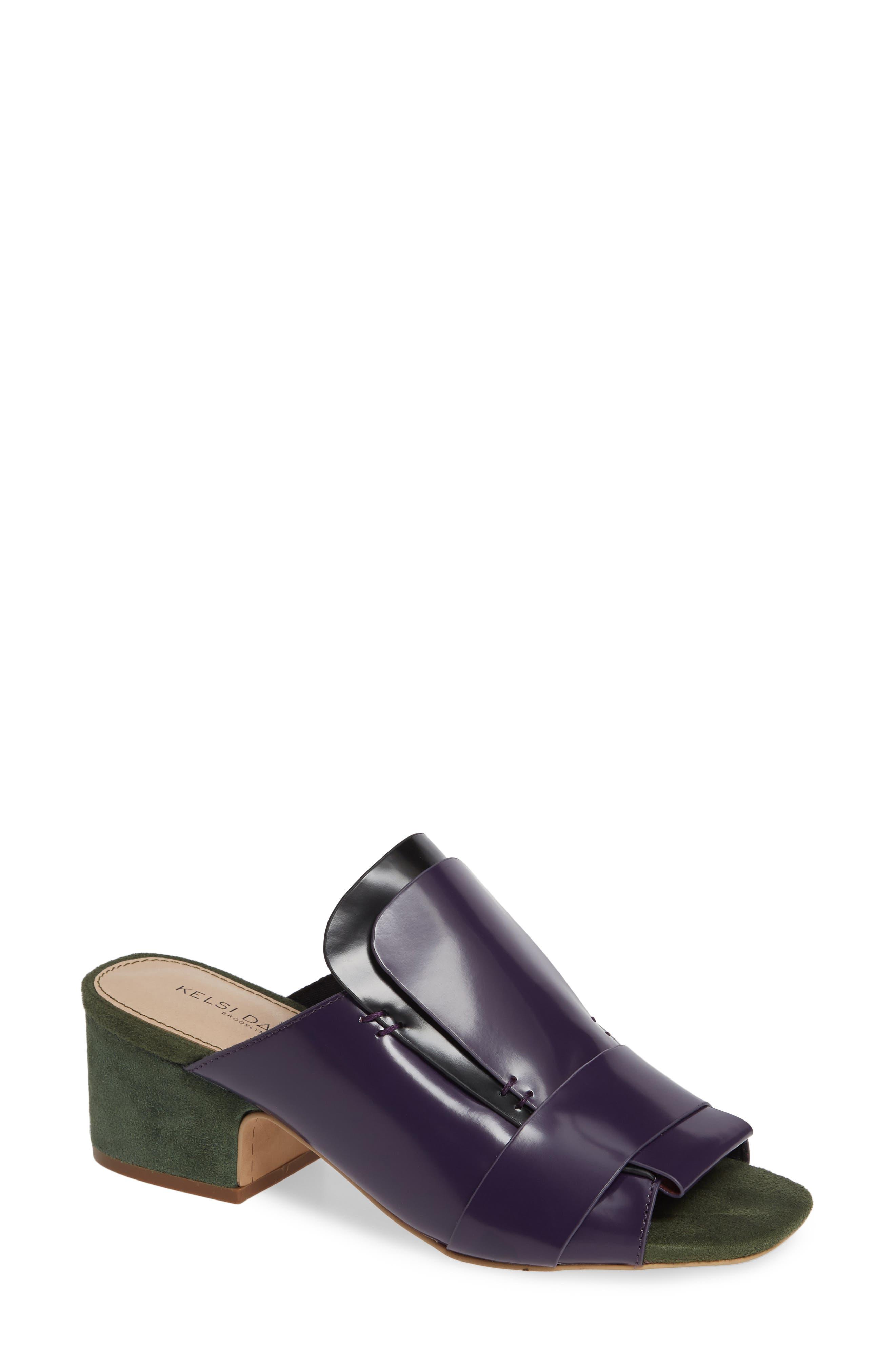 Kelsi Dagger Brooklyn Sadie Loafer Slide Sandal, Purple