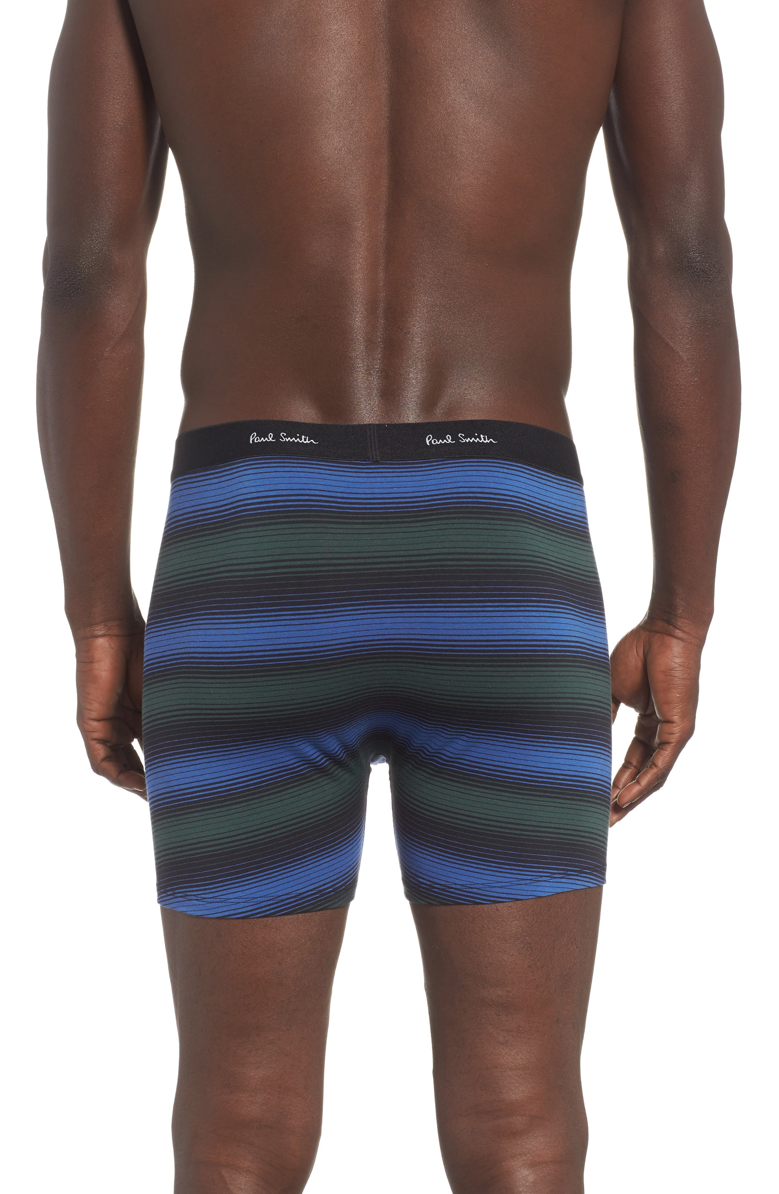 Stripe Boxer Briefs,                             Alternate thumbnail 2, color,                             BLUE/ BLACK/ GREEN