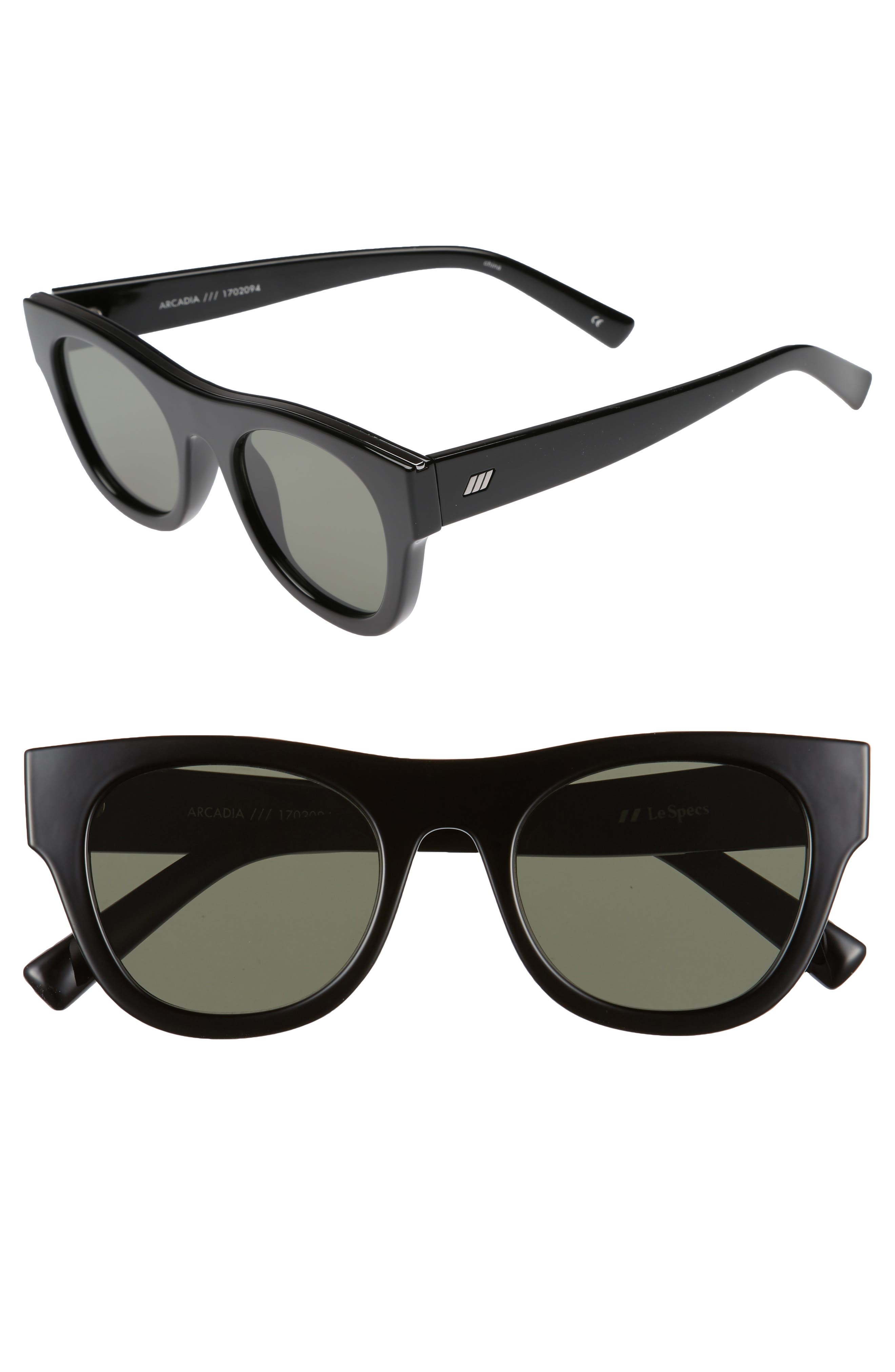 Arcadia 49mm Sunglasses,                         Main,                         color, 001