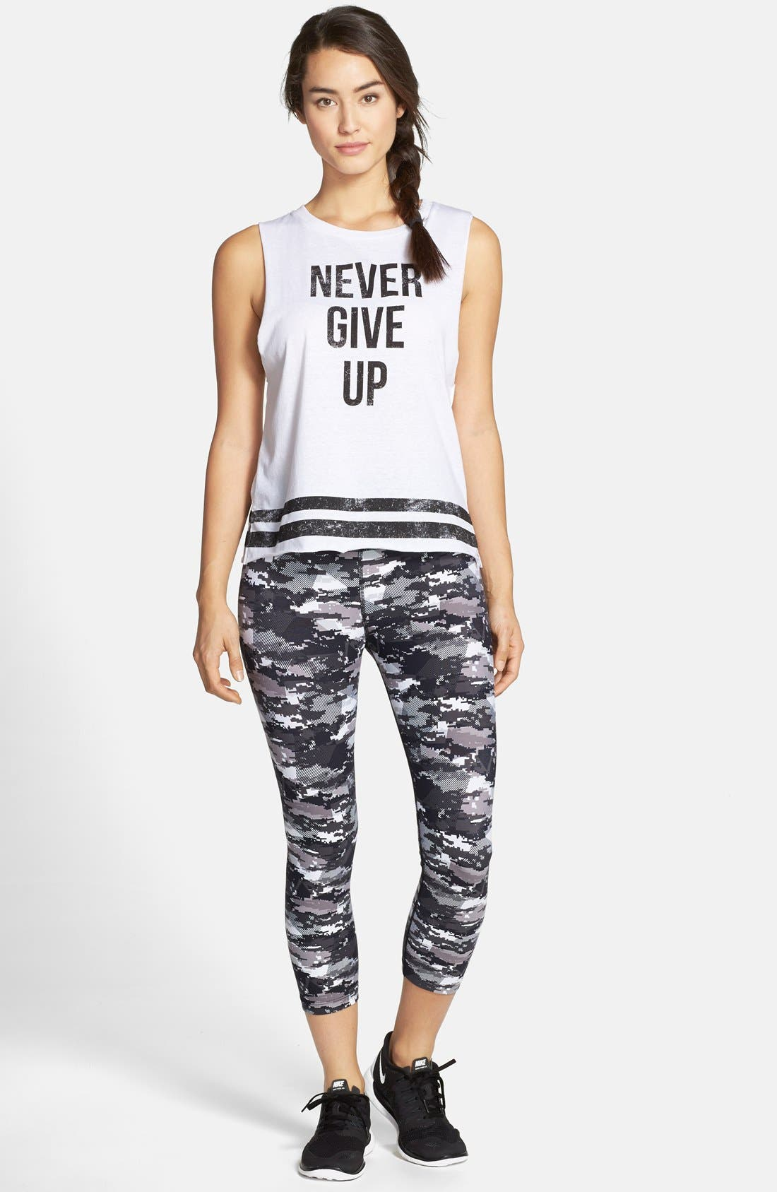'Never Give Up' Tank,                             Alternate thumbnail 4, color,                             100