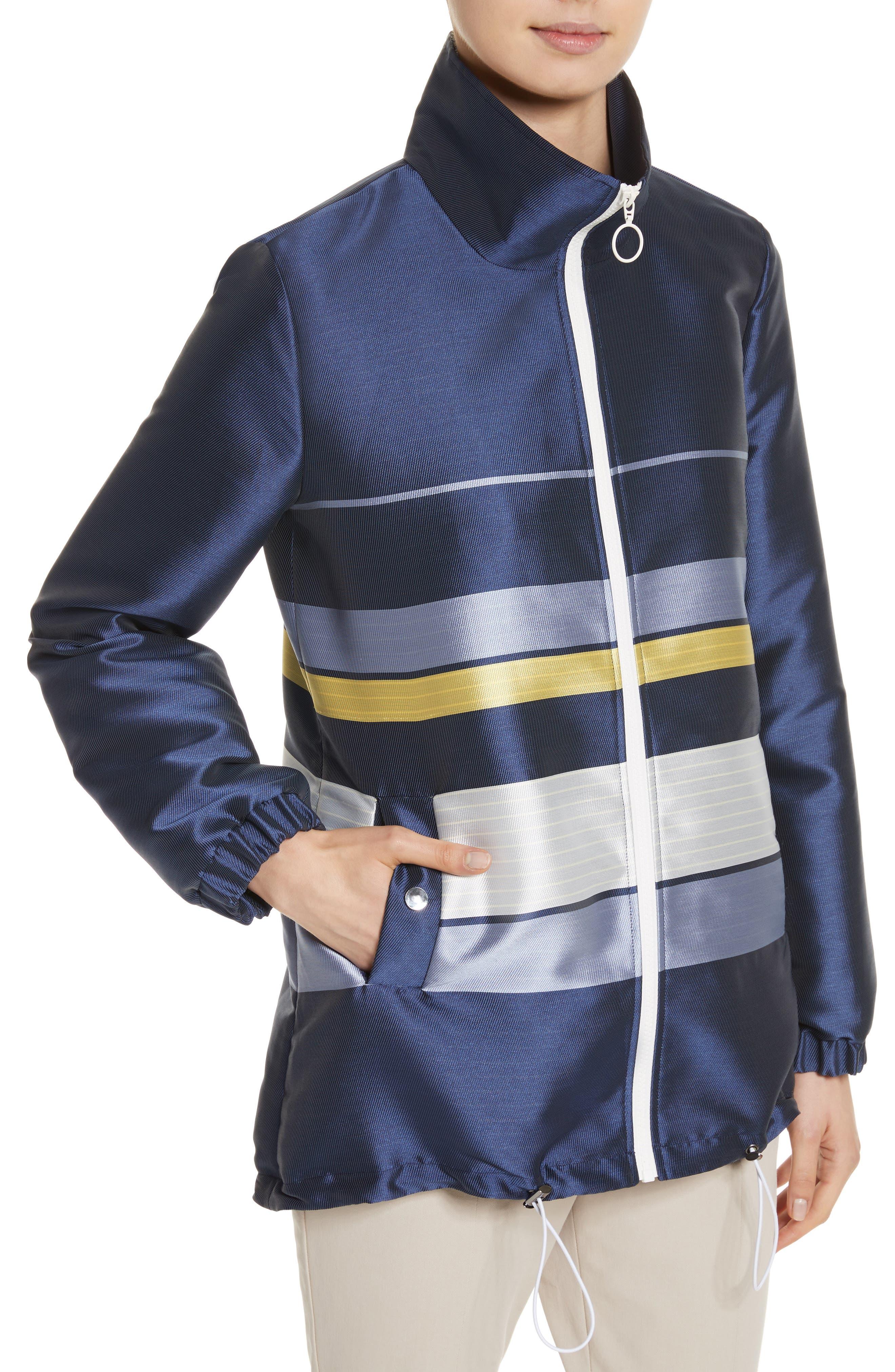 Double Face Stripe Twill Jacket,                             Alternate thumbnail 4, color,                             420