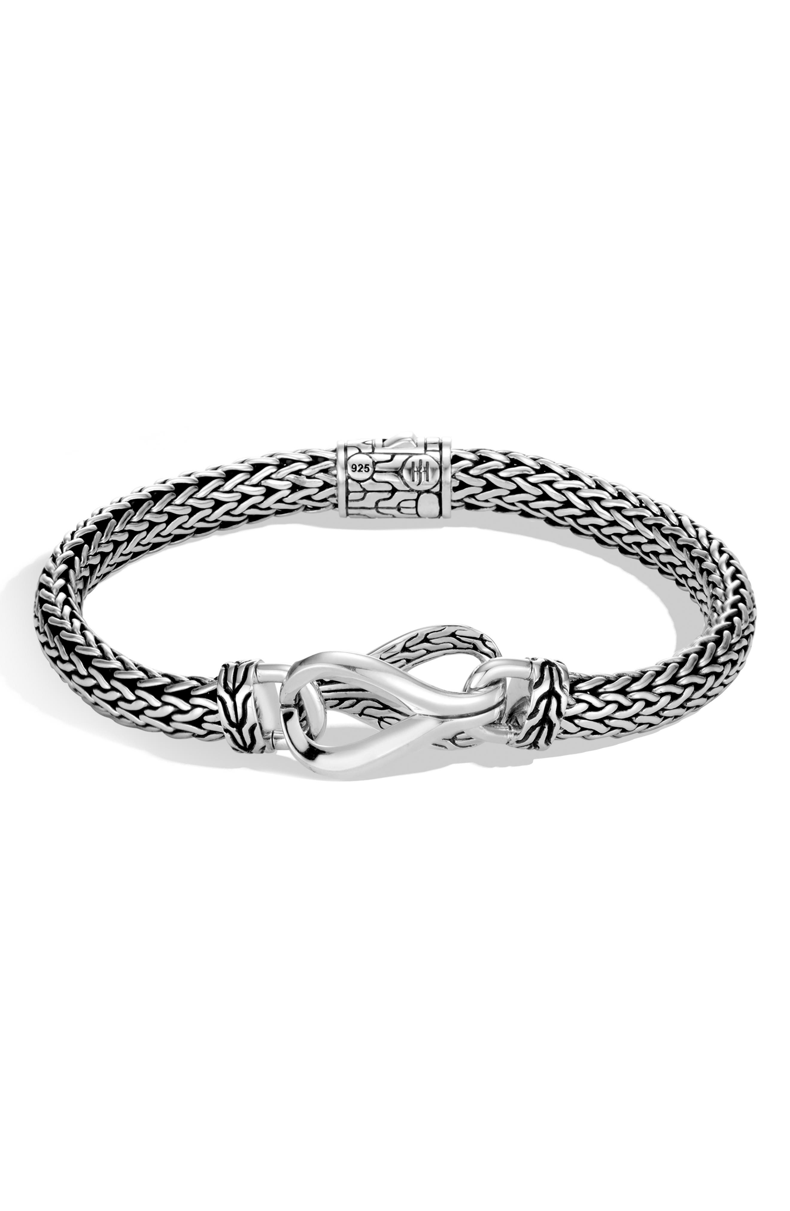 JOHN HARDY Small Asli Chain 6.5mm Bracelet, Main, color, SILVER
