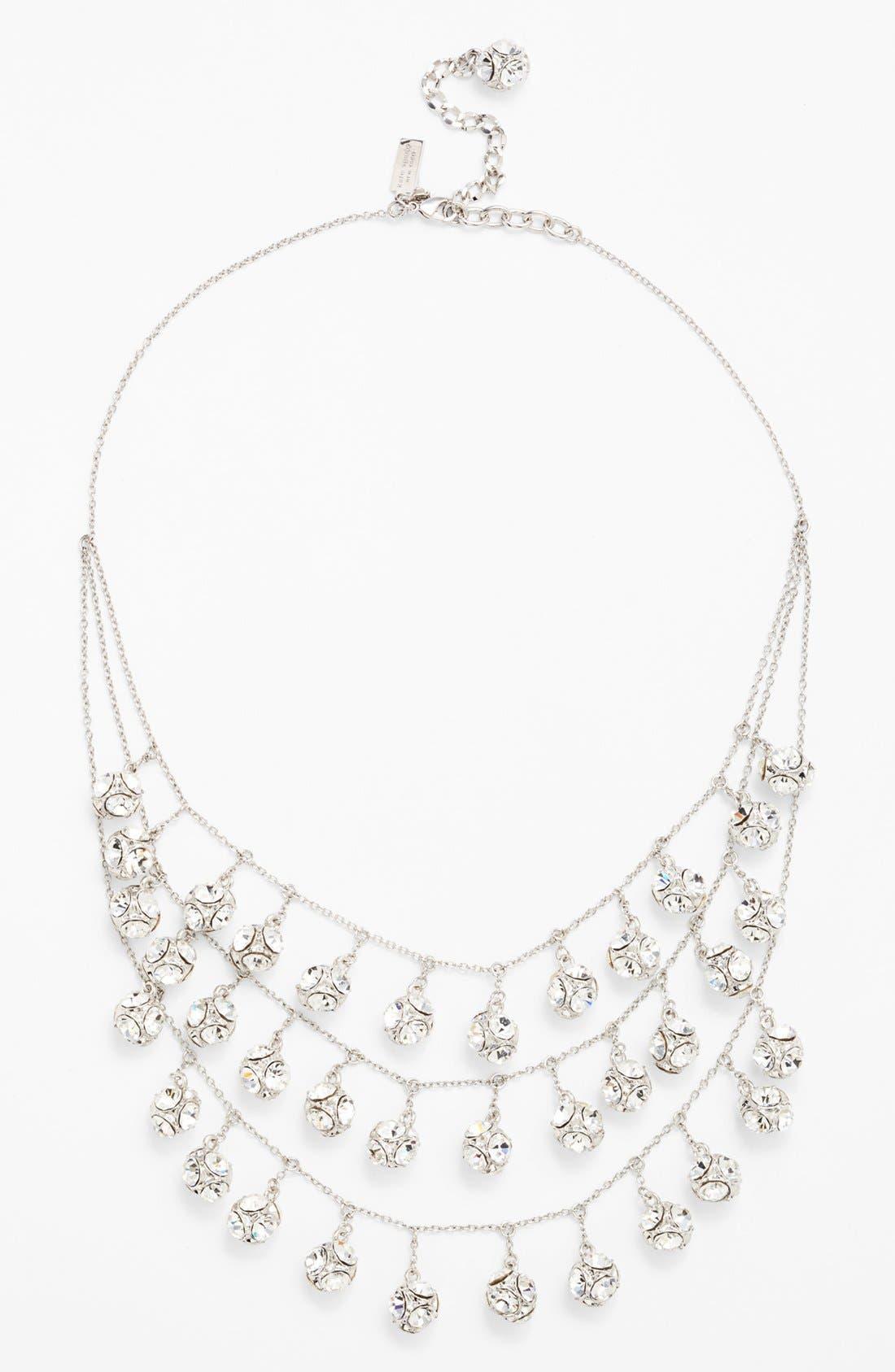 mini fringe bib necklace,                             Main thumbnail 1, color,                             040