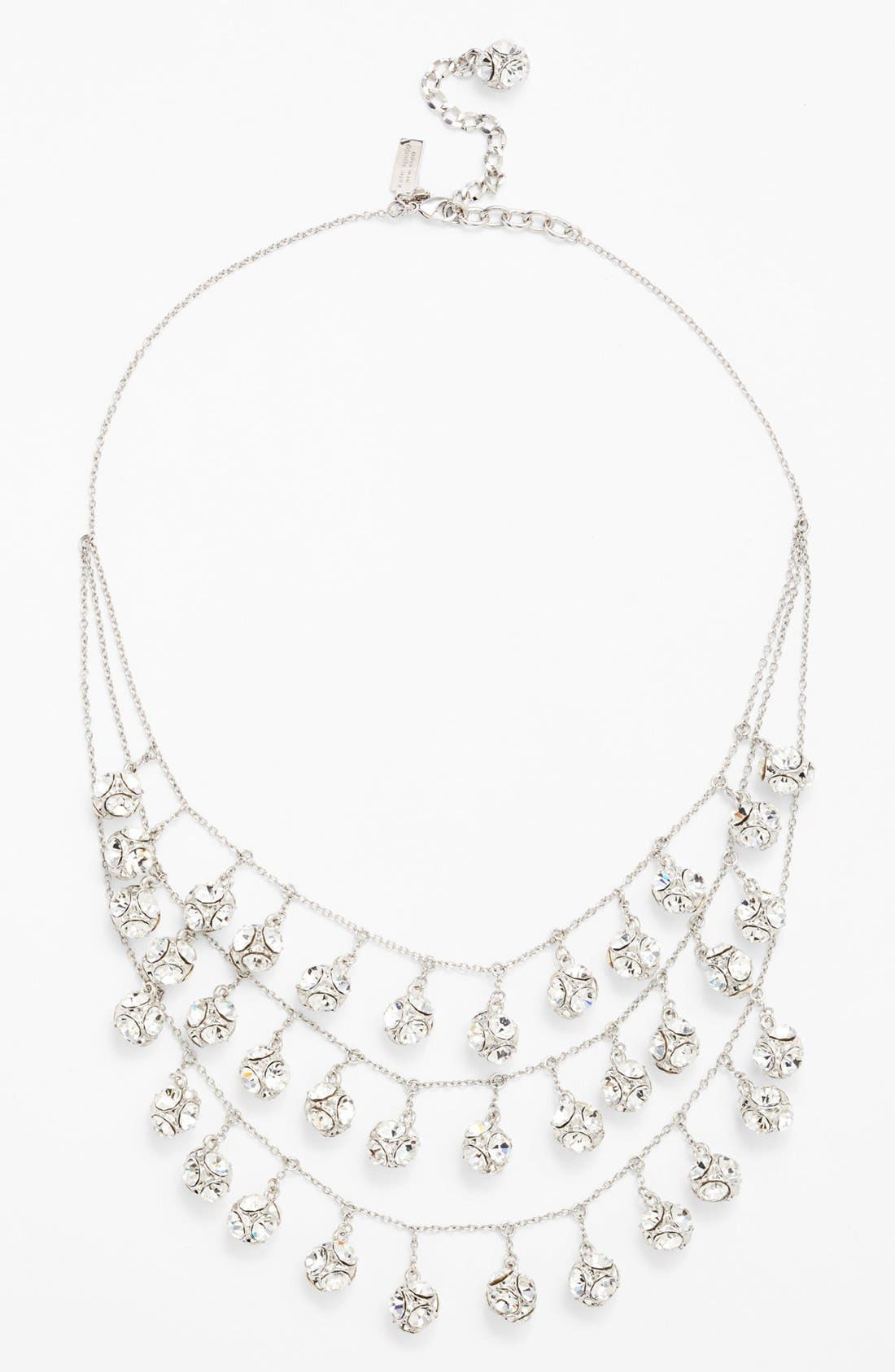 mini fringe bib necklace,                         Main,                         color, 040