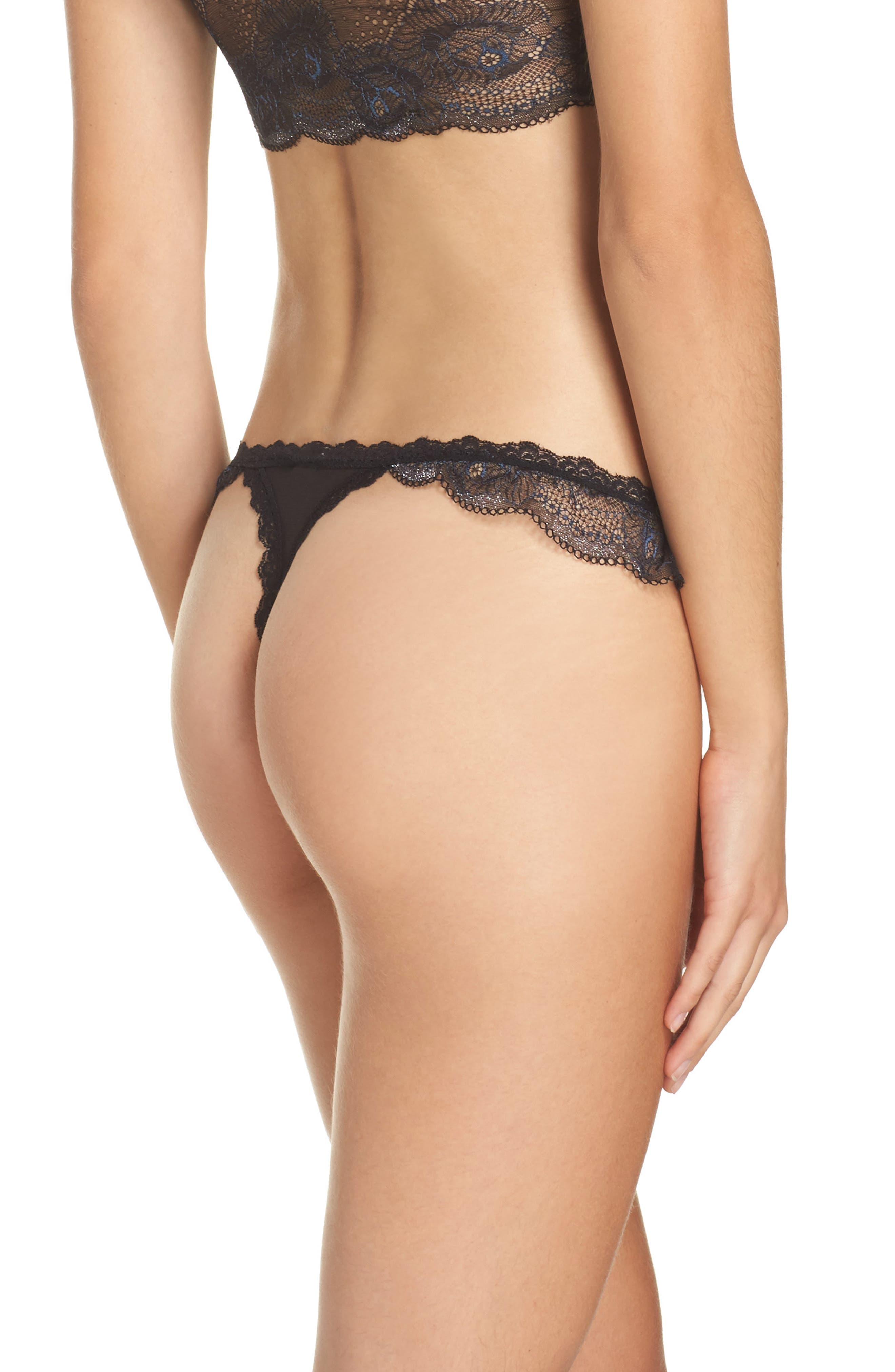 Wild Roses Thong,                             Alternate thumbnail 2, color,                             001