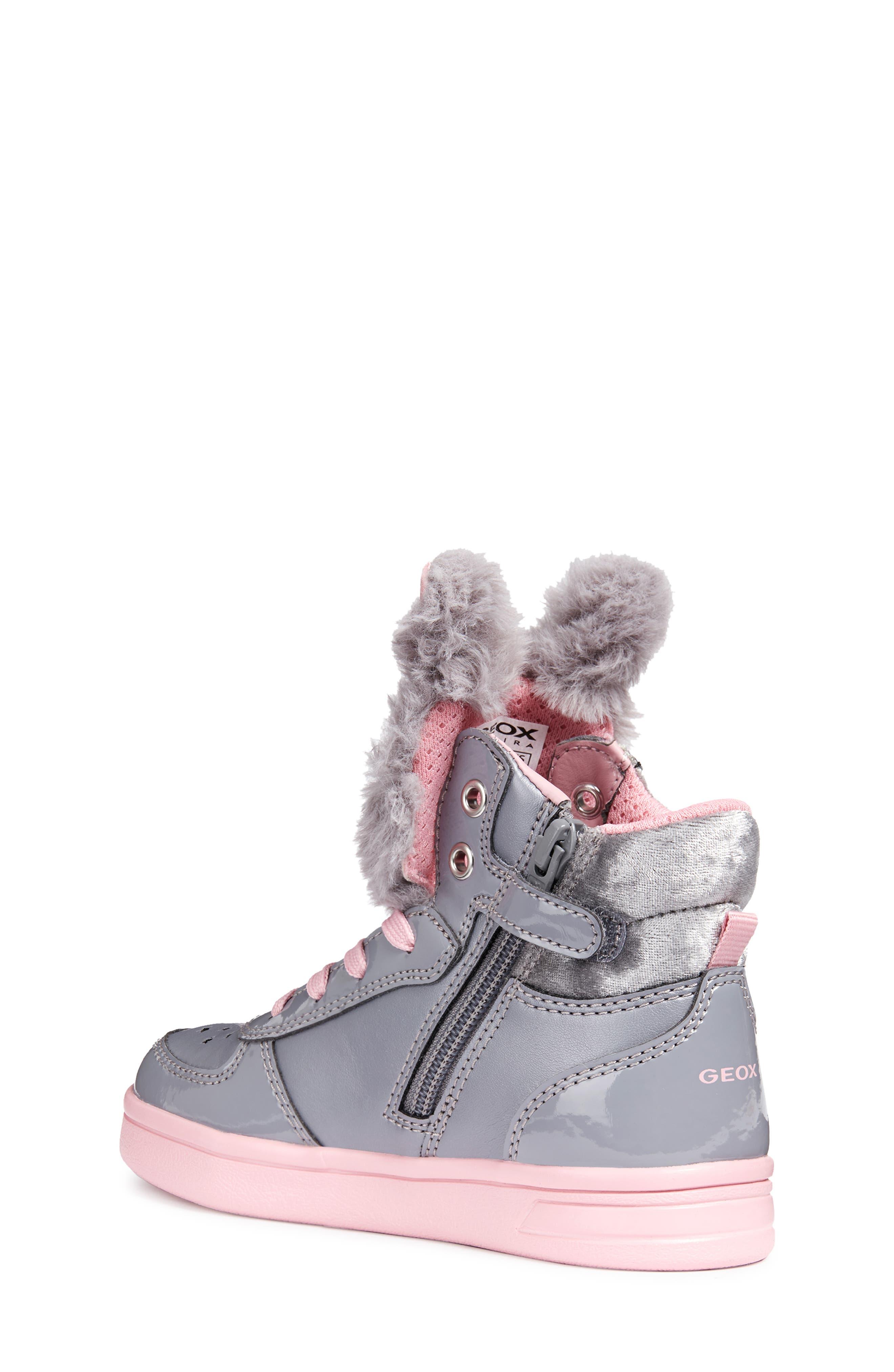DJ Rock Fuzzy Friend Sneaker,                             Alternate thumbnail 2, color,                             GREY/PINK