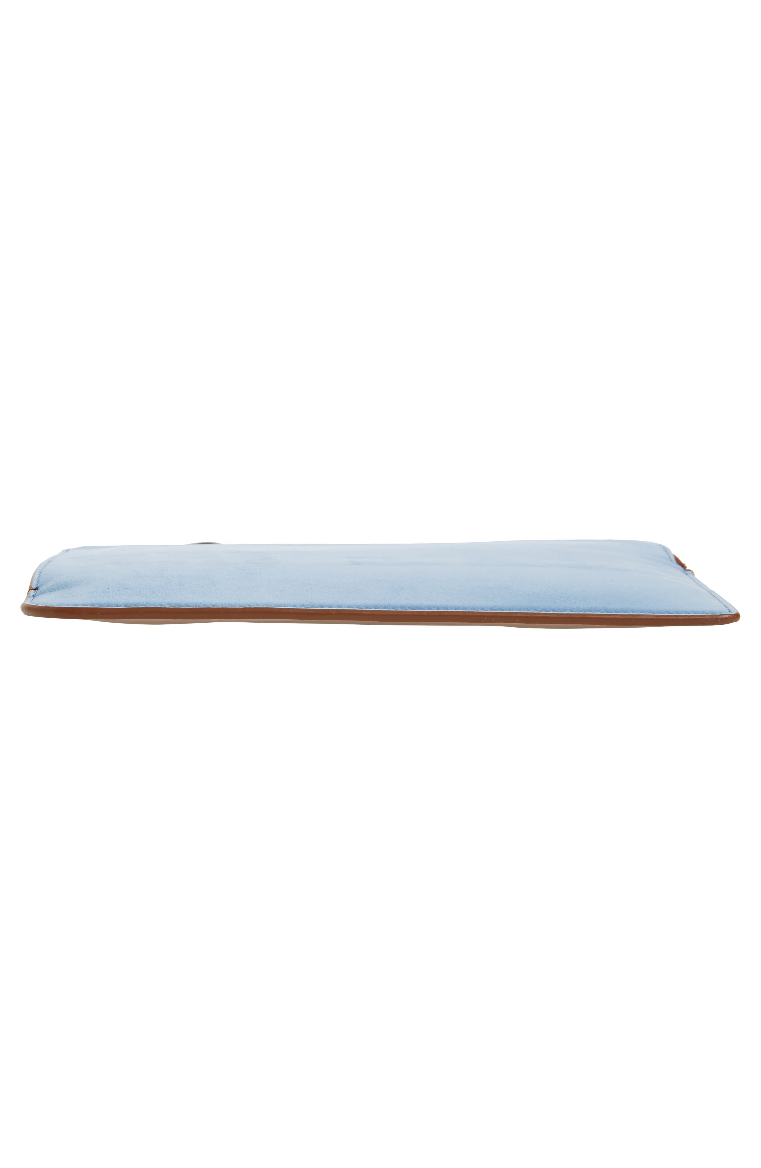 Medium Leather Zip Pouch,                             Alternate thumbnail 6, color,                             455