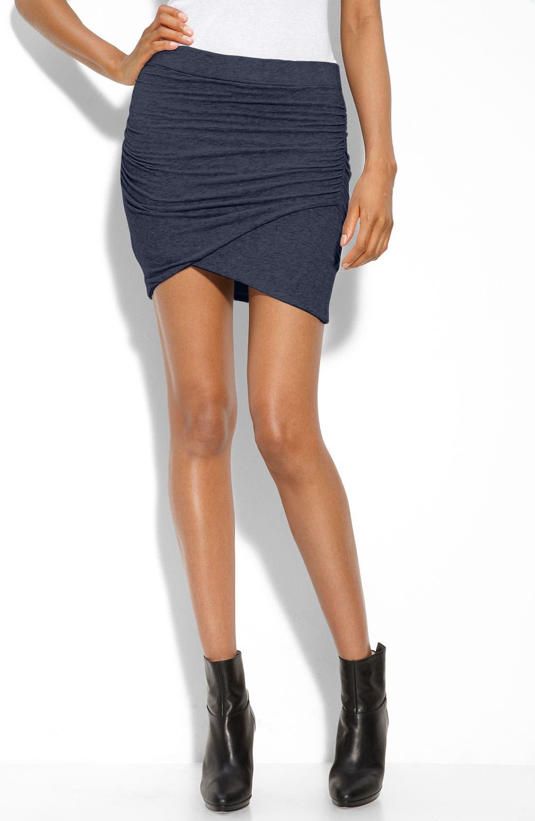 Faux Wrap Miniskirt,                             Main thumbnail 2, color,