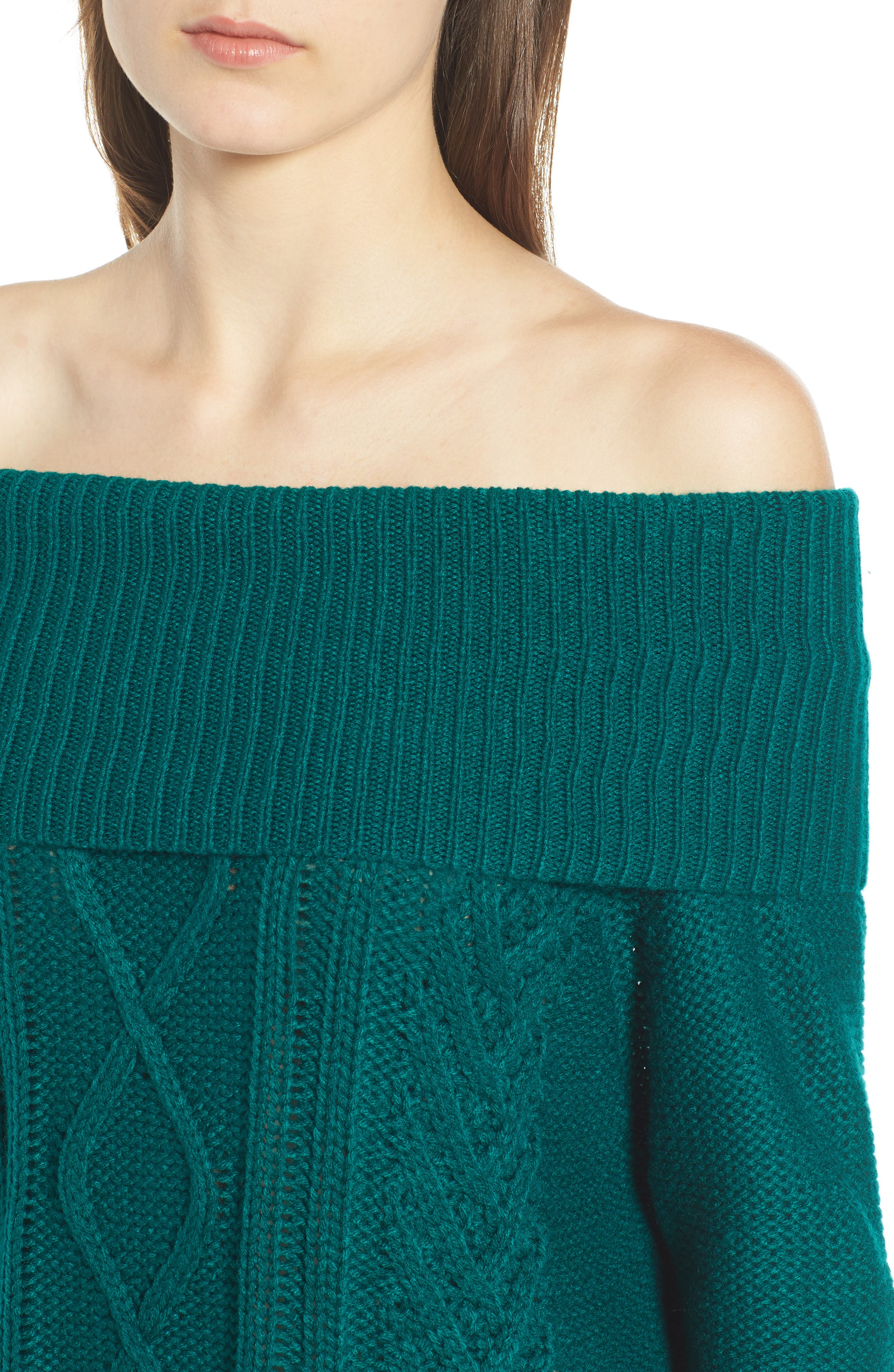 Off Shore Cable Knit Sweater,                             Alternate thumbnail 4, color,                             440