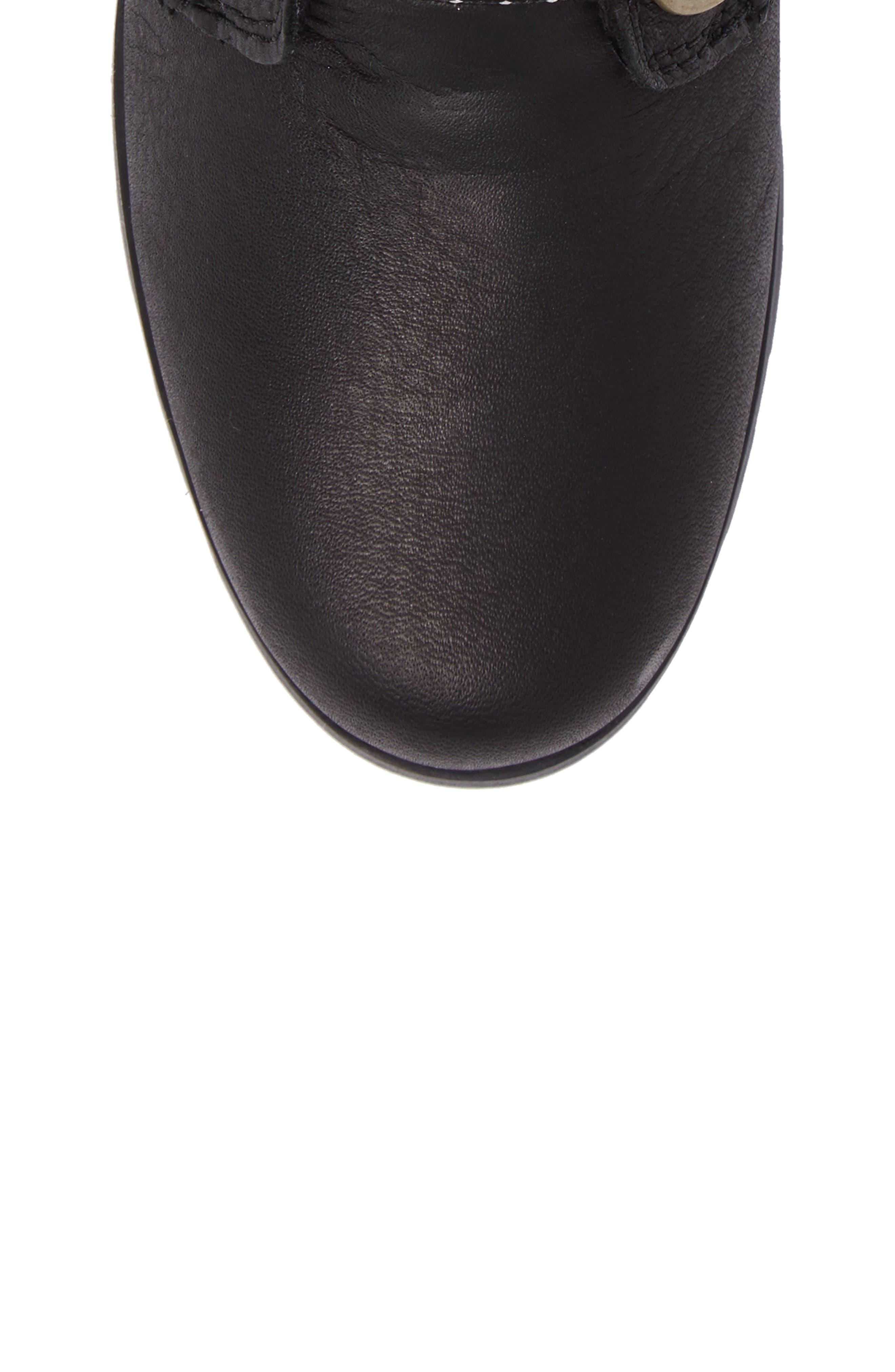 Emelie Waterproof Lace Up Boot with Faux Fur Trim,                             Alternate thumbnail 5, color,                             010