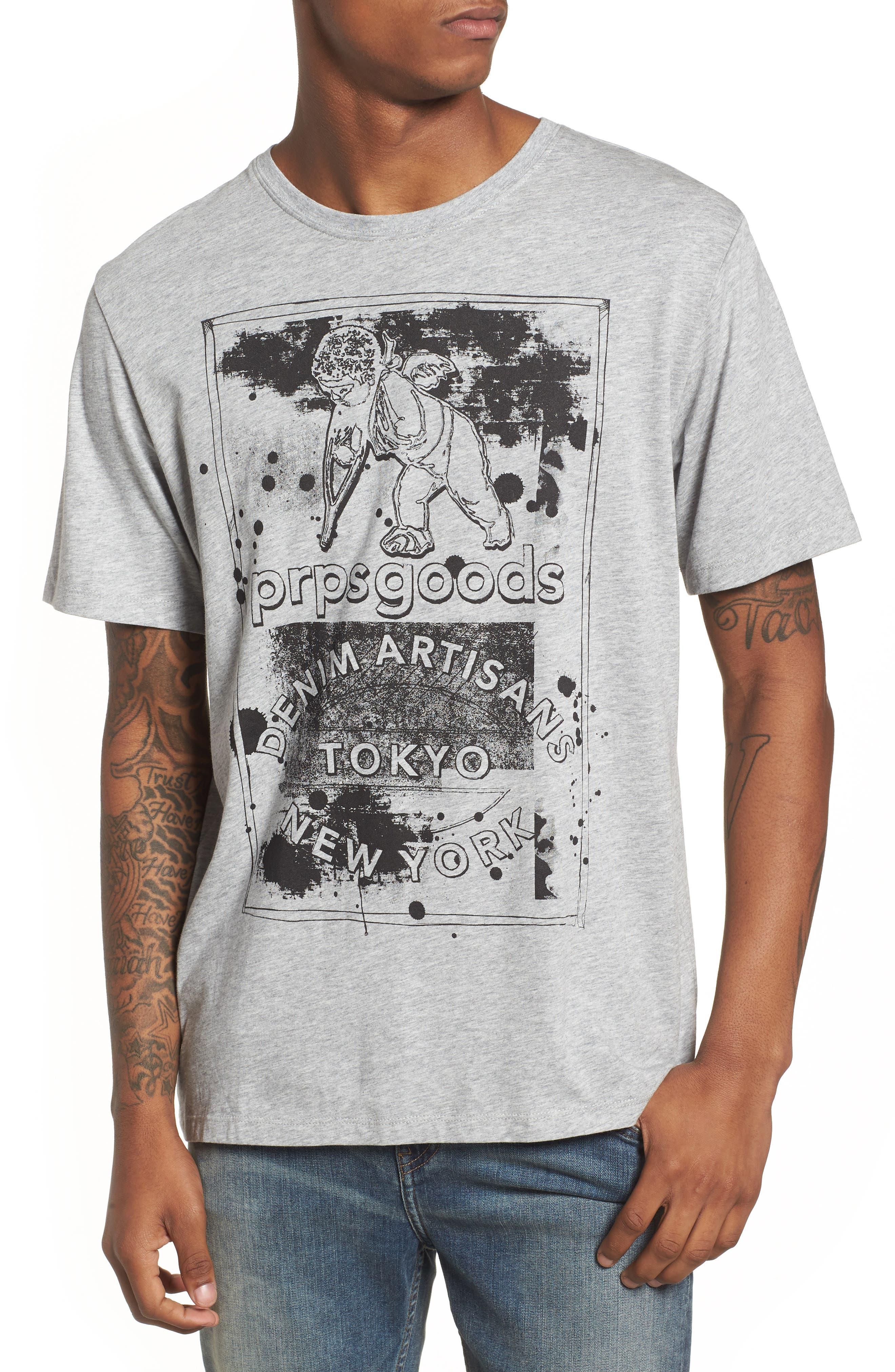 PRPS Logo Graphic T-Shirt, Main, color, 020