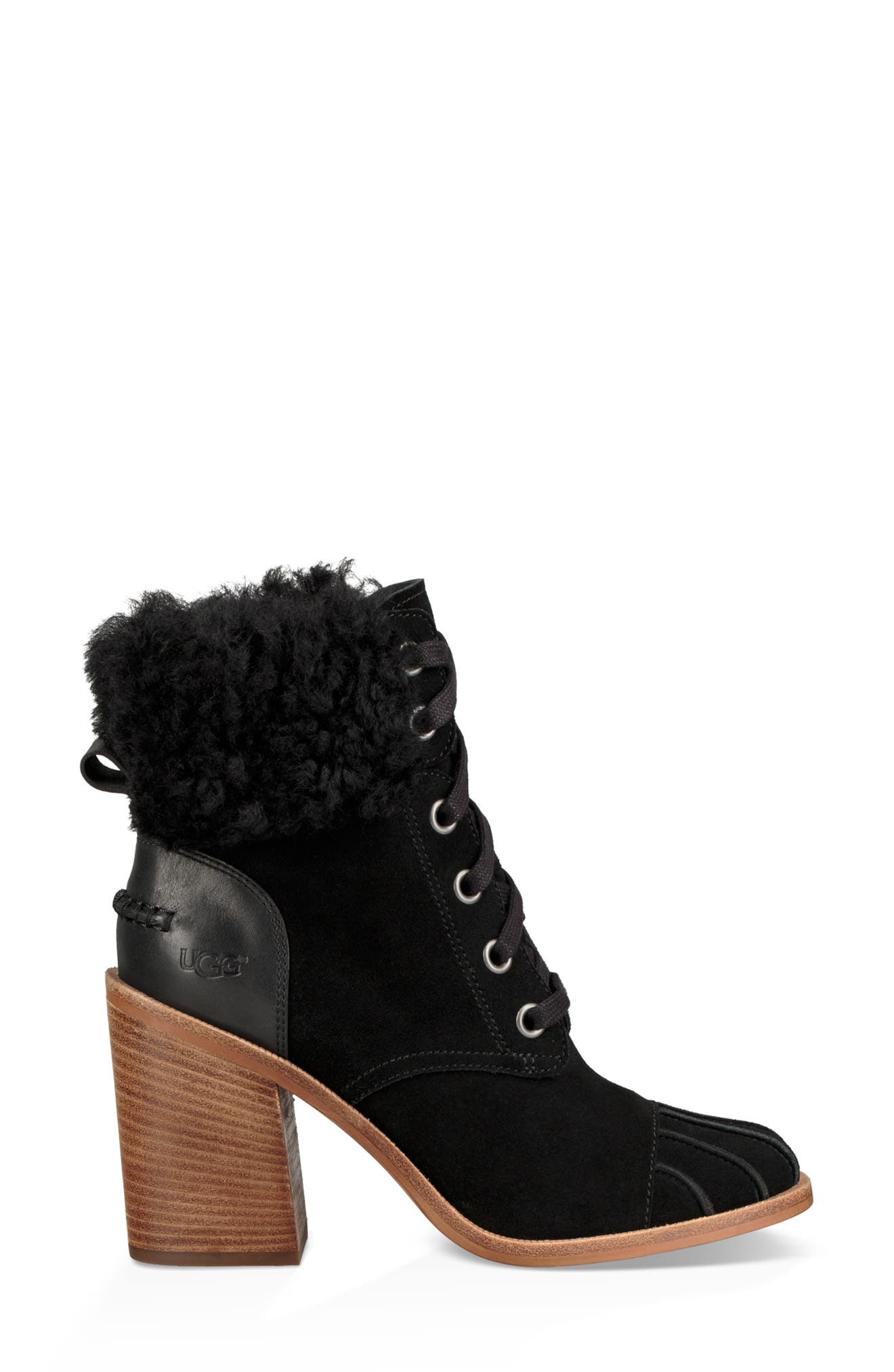 Jaxon Cuff Bootie,                             Alternate thumbnail 3, color,                             BLACK