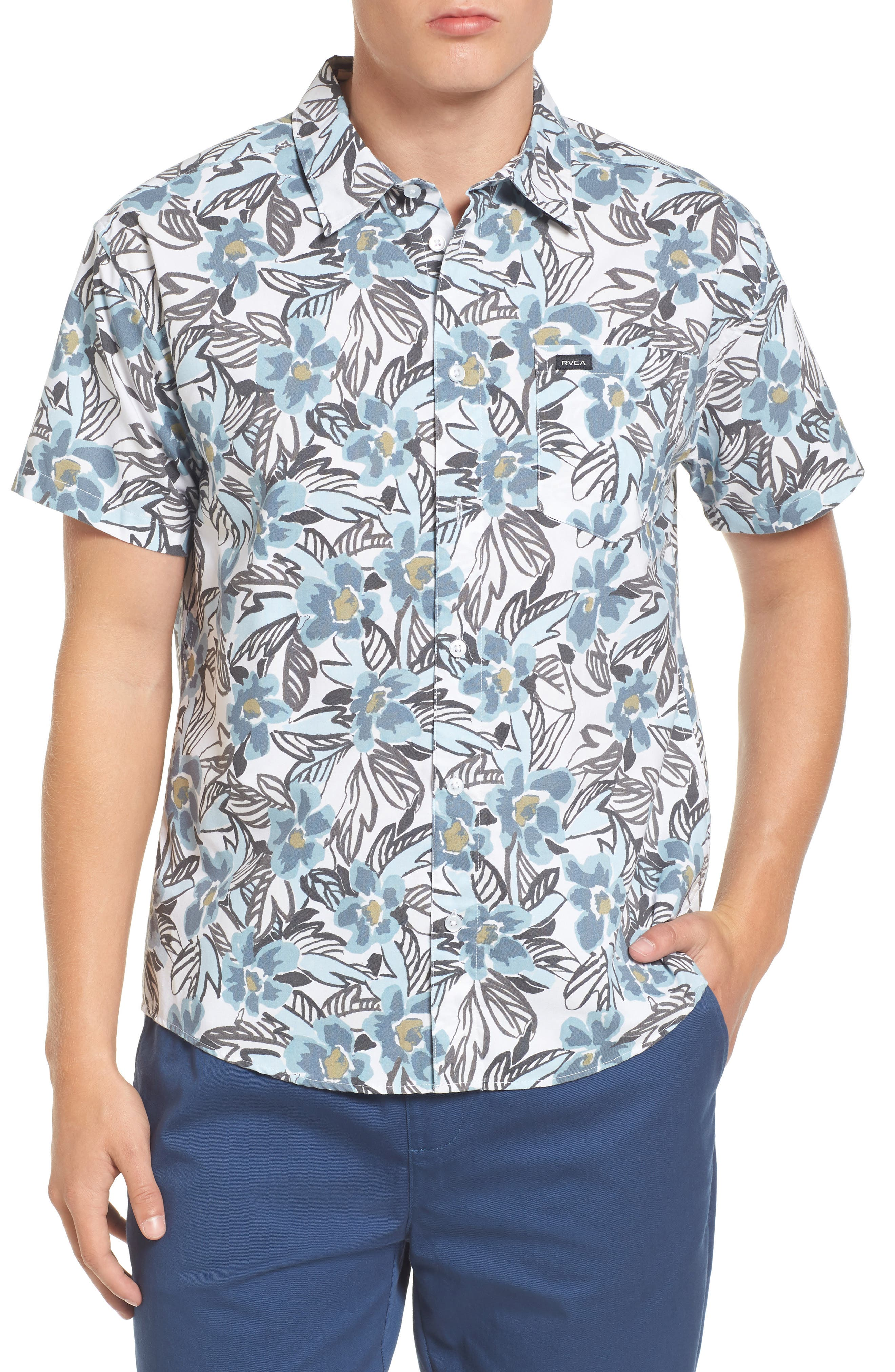Paradise Valley Floral Woven Shirt,                         Main,                         color, 142