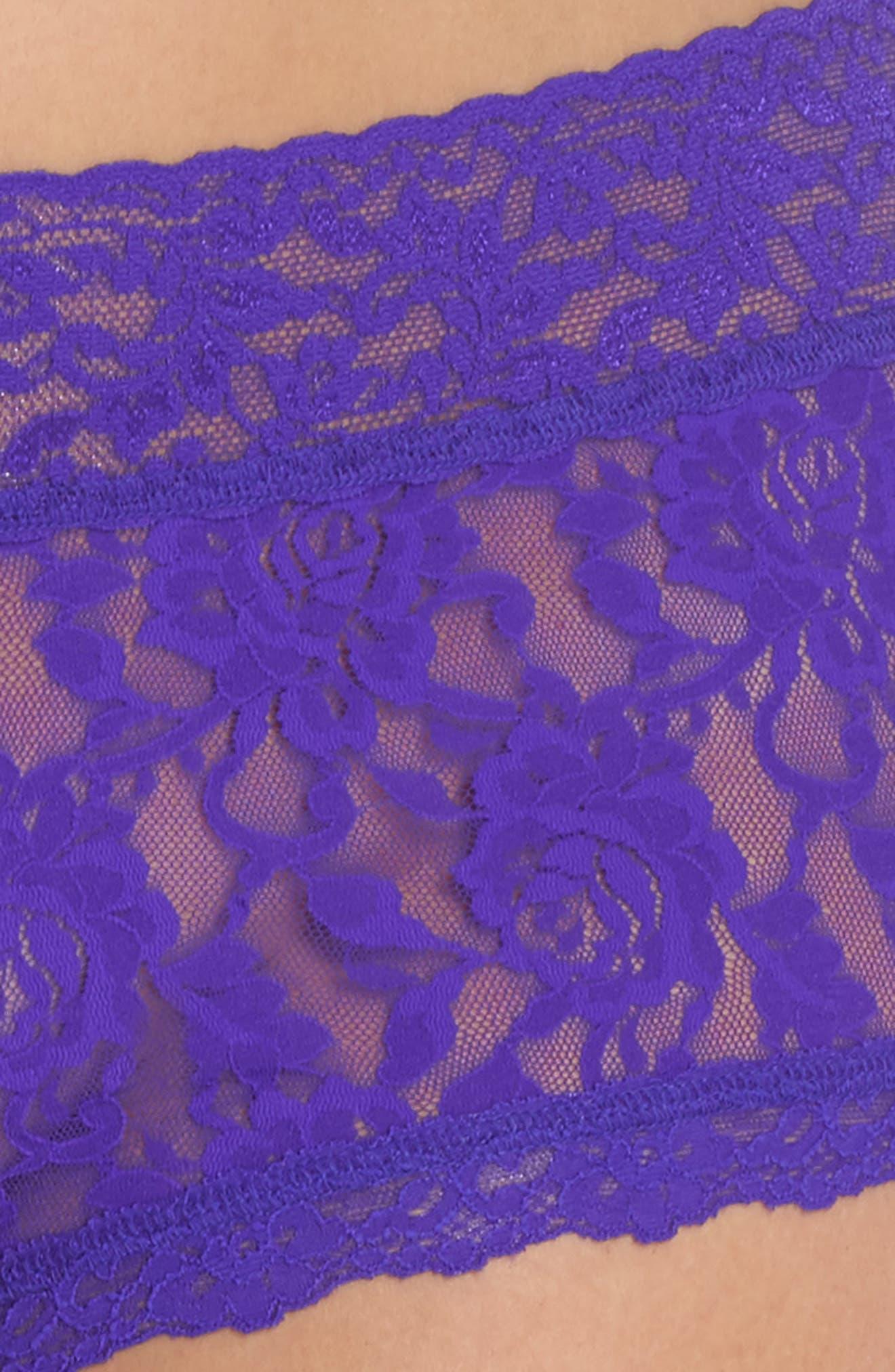 Stretch Lace Boyshorts,                             Alternate thumbnail 117, color,