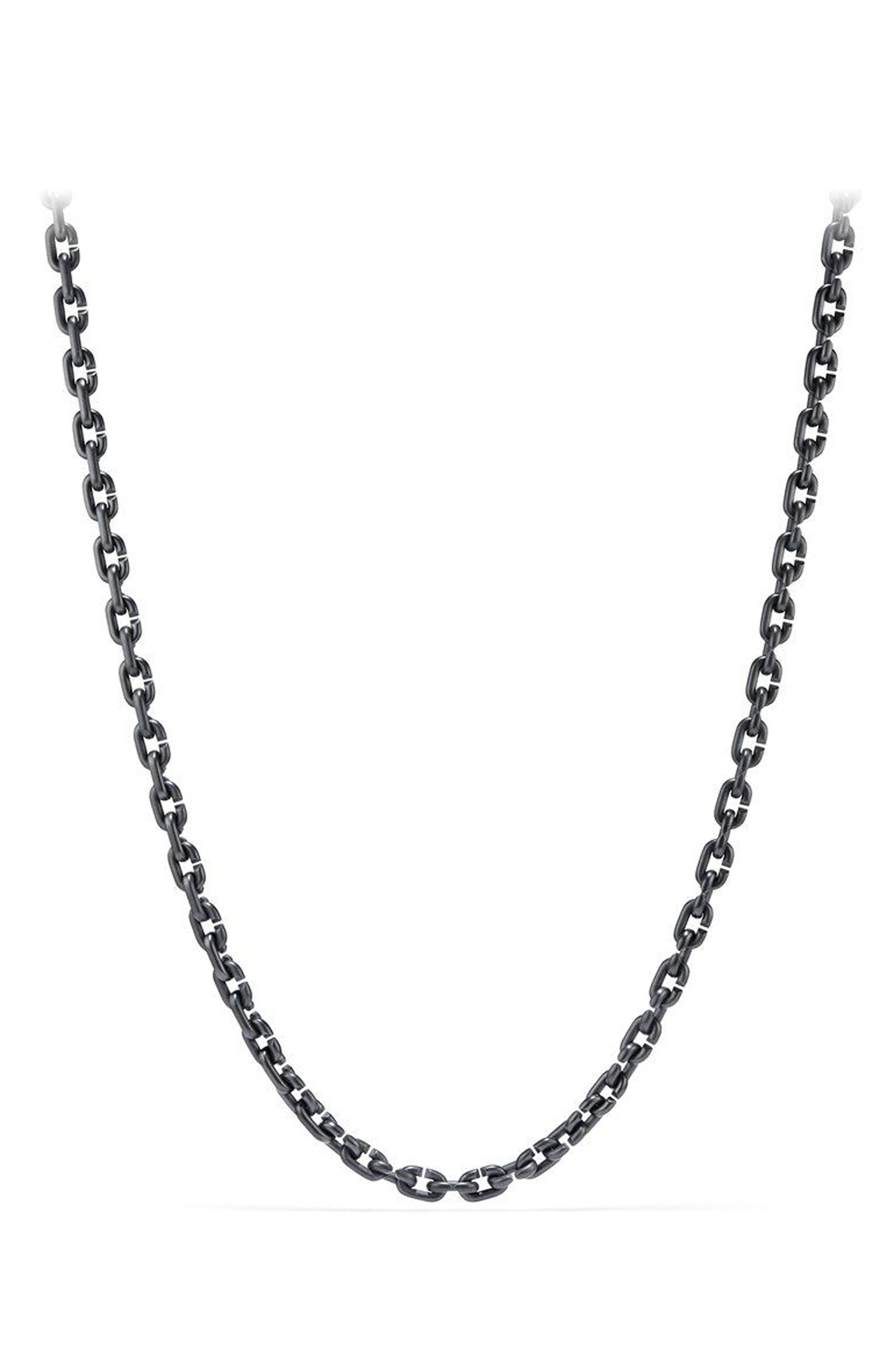Narrow Chain Link Necklace,                         Main,                         color, TITANIUM