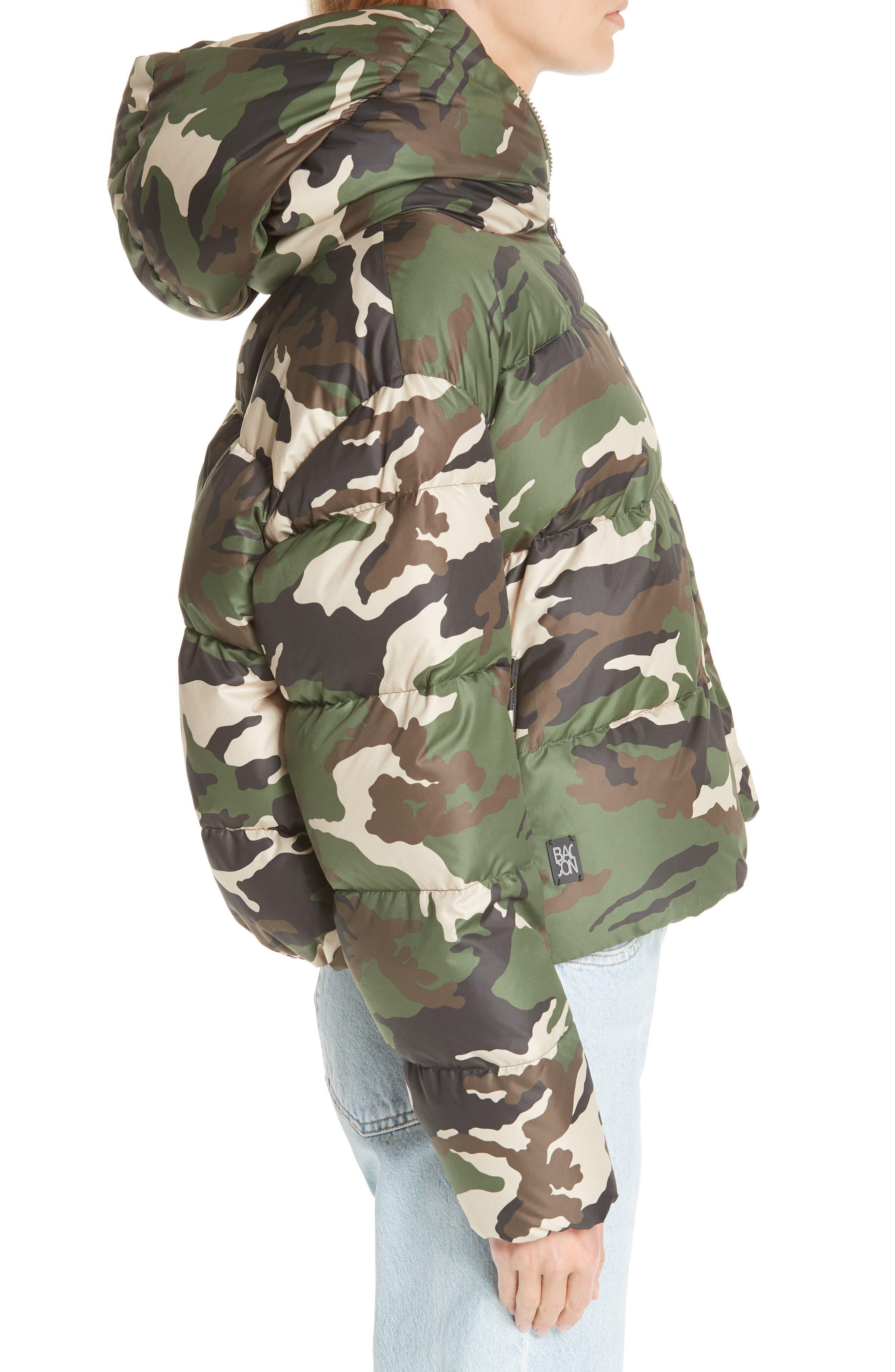 Cloud Camo Down Puffer Jacket,                             Alternate thumbnail 3, color,                             300