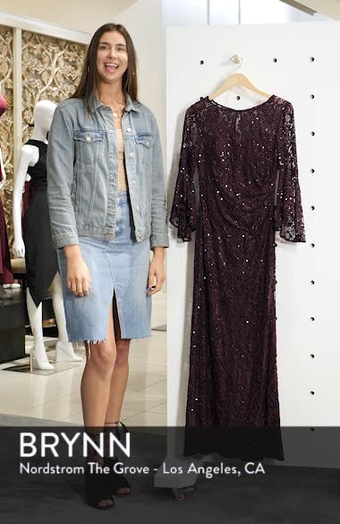 Sequin Embellished Gown, sales video thumbnail