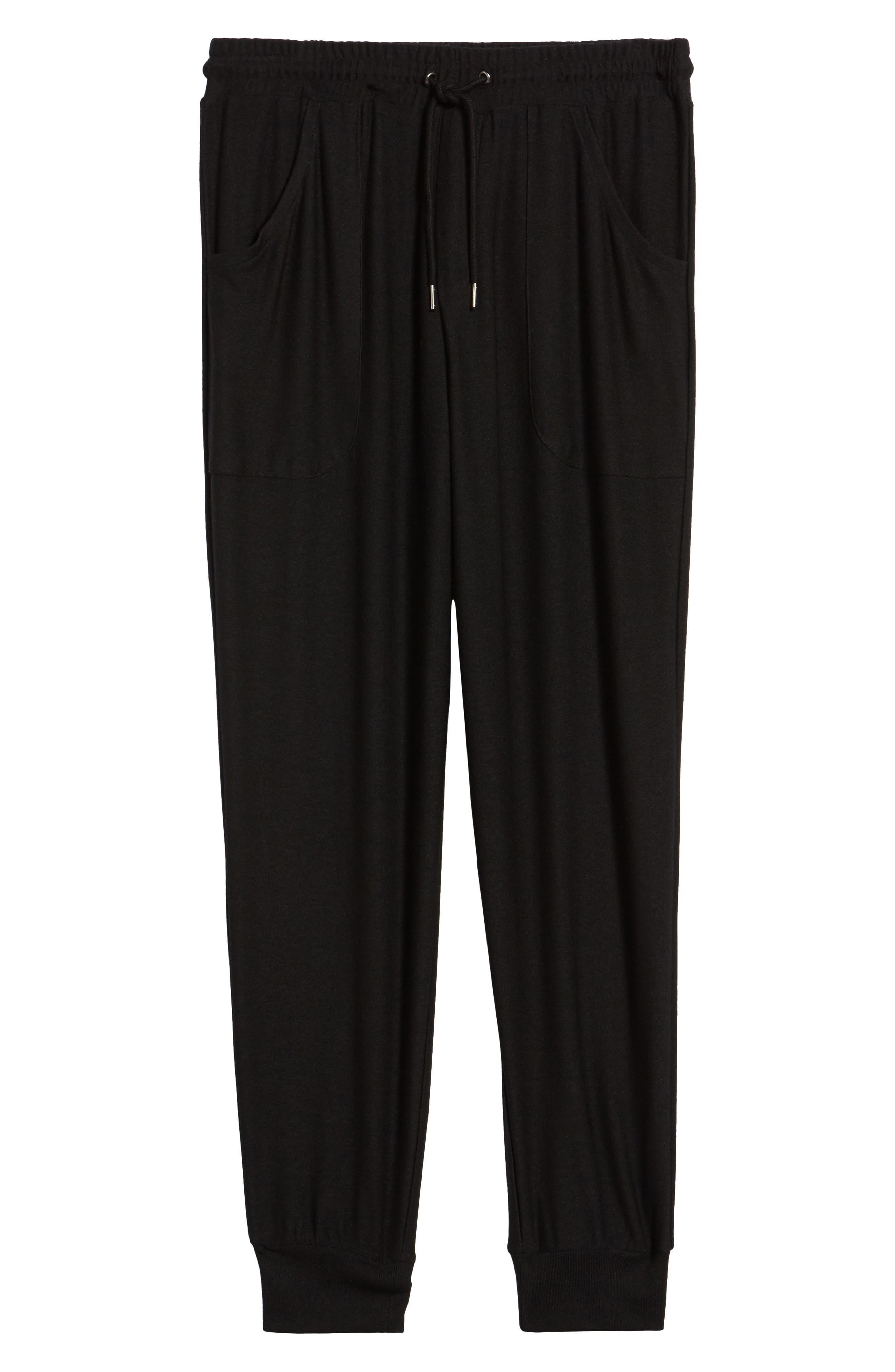 Ultra Soft Jogger Pants,                             Alternate thumbnail 6, color,                             BLACK